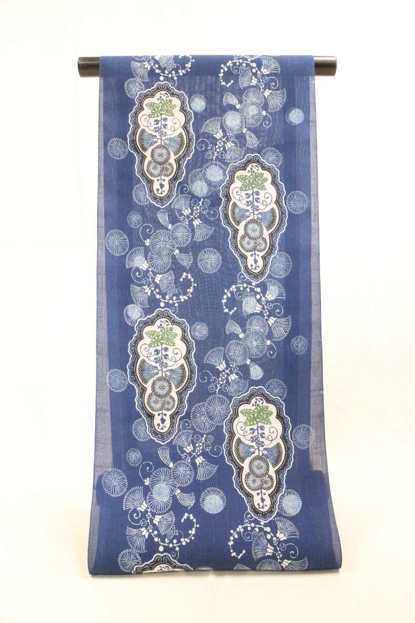 藍型 サガリバナ  夏絹