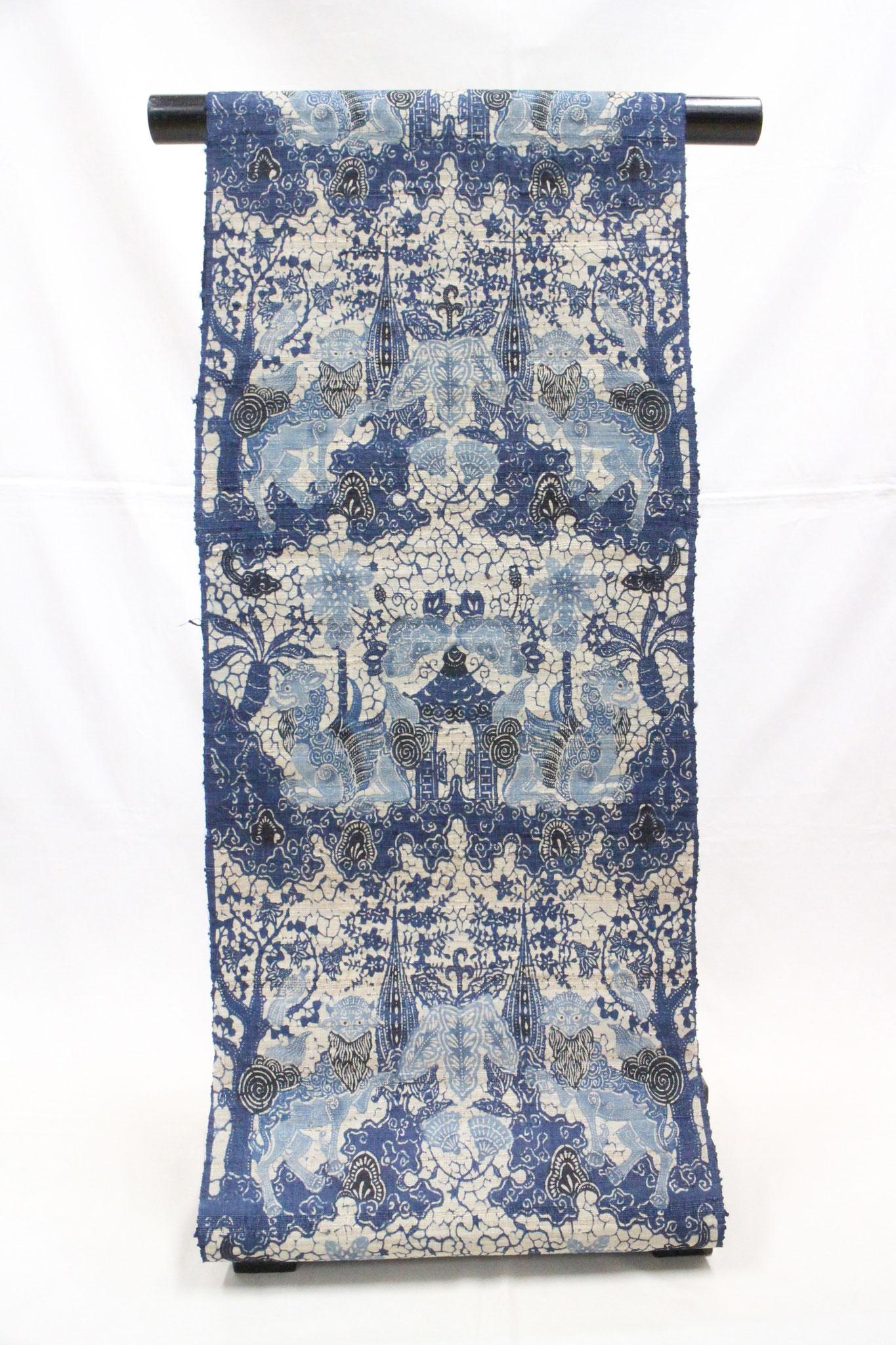 藍型 RYUKYU BATIC  大麻布(モン族)