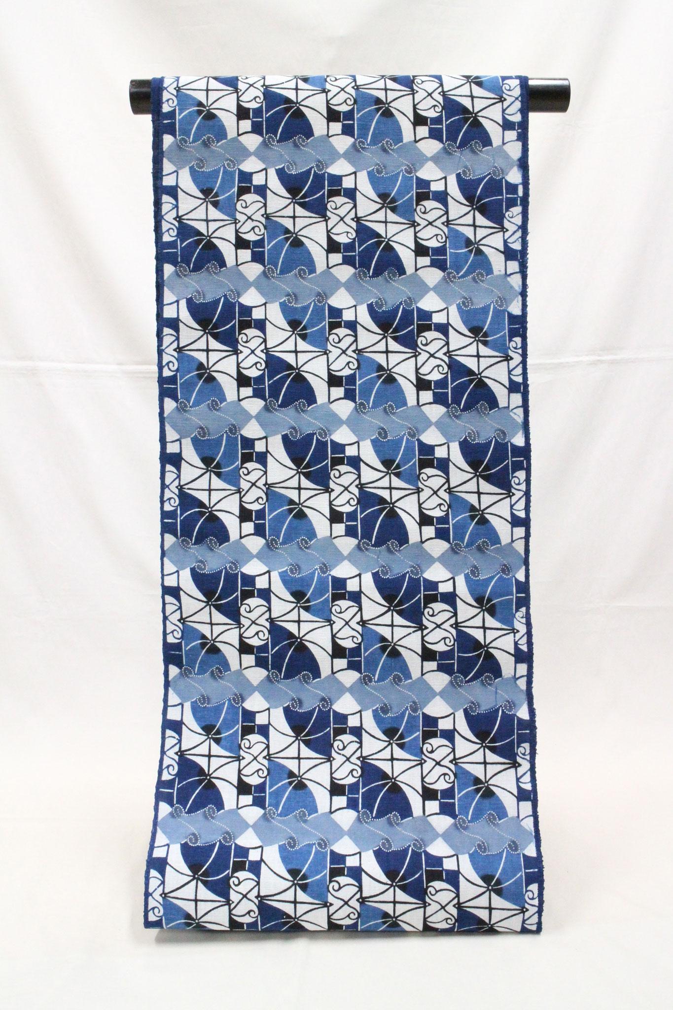 藍型 クレー       岡崎木綿