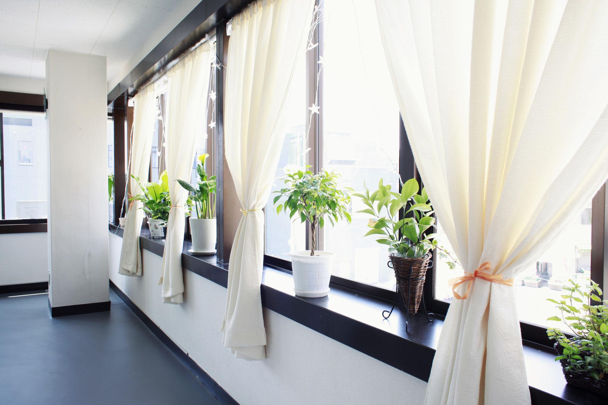 ◆3階に位置し、スタジオの二面が窓ですので見渡しが良く、日中は日当たり良好です!
