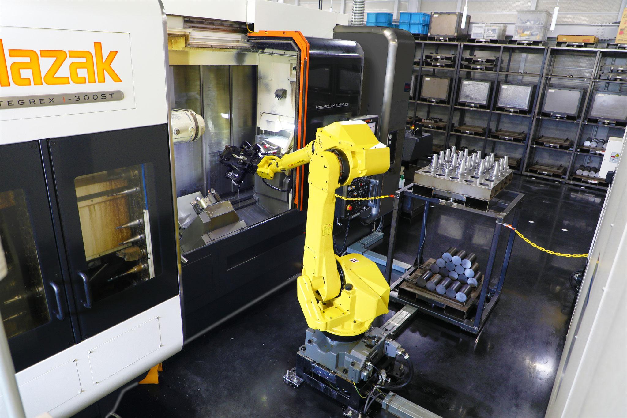 産業用ロボットを用いた自動加工