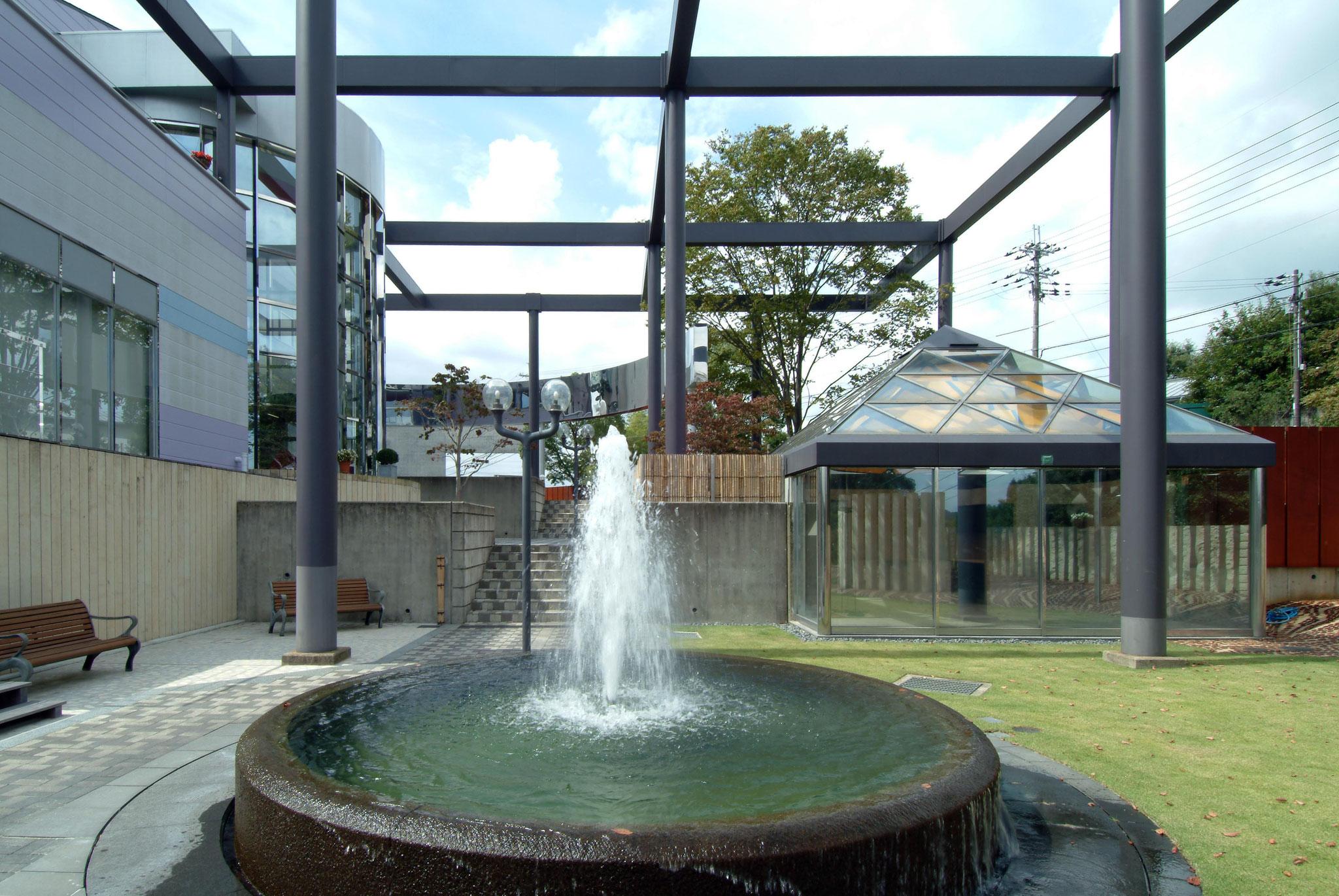 噴水。憩いの場です。