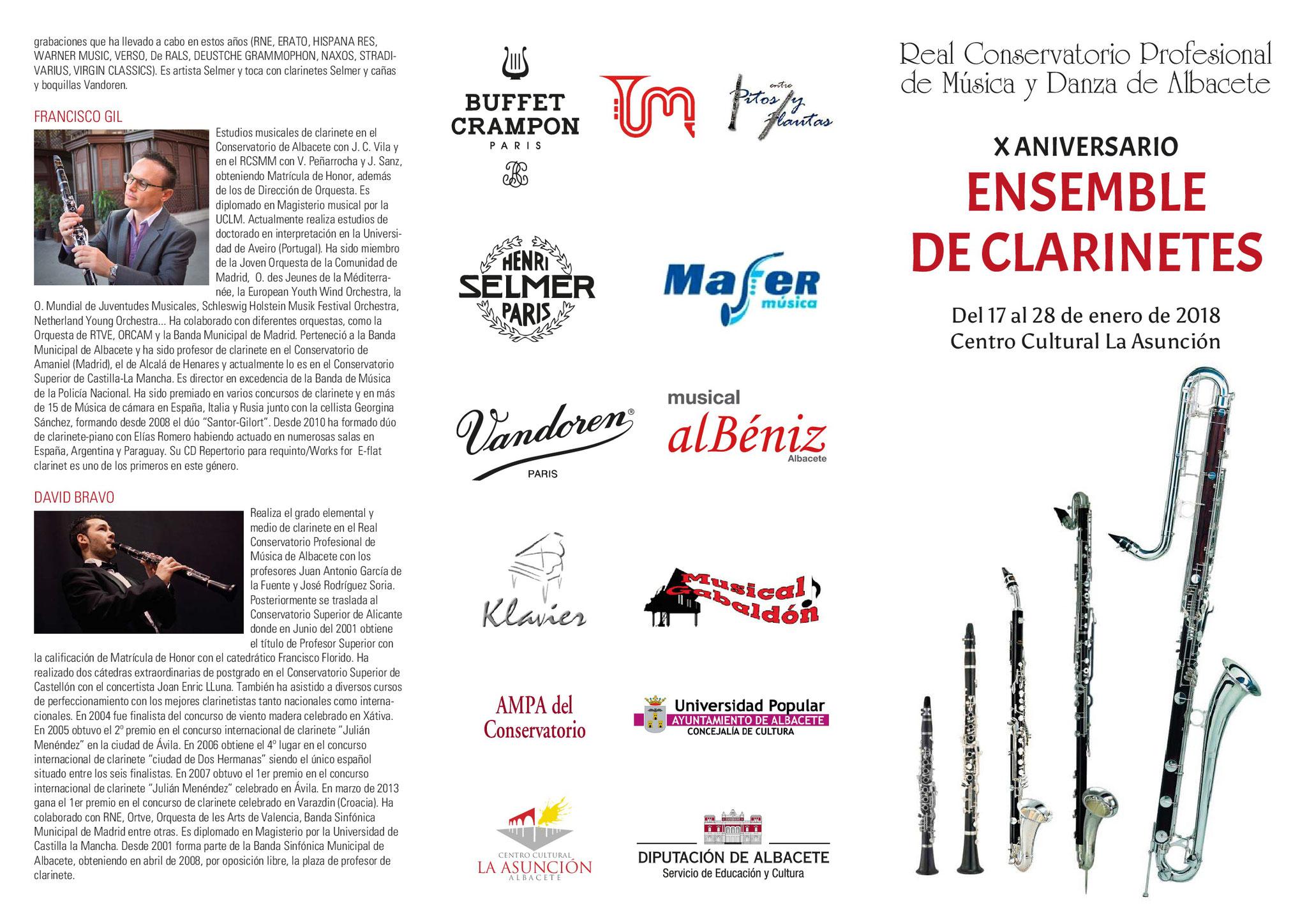 "Tríptico ""Semana del clarinete"""