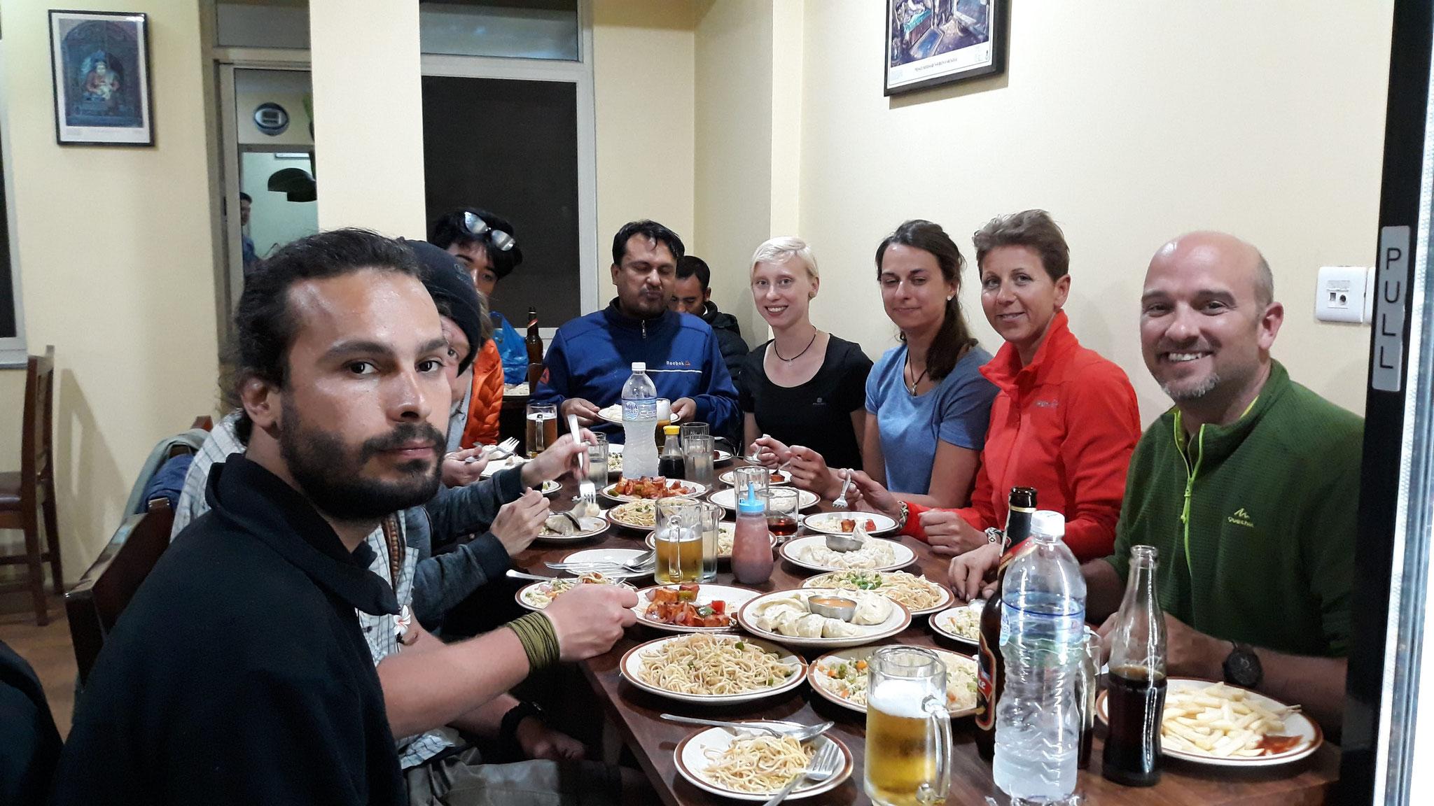 Abschiedsessen Kathmandu, eine wunderschöne Reise geht hier zu Ende