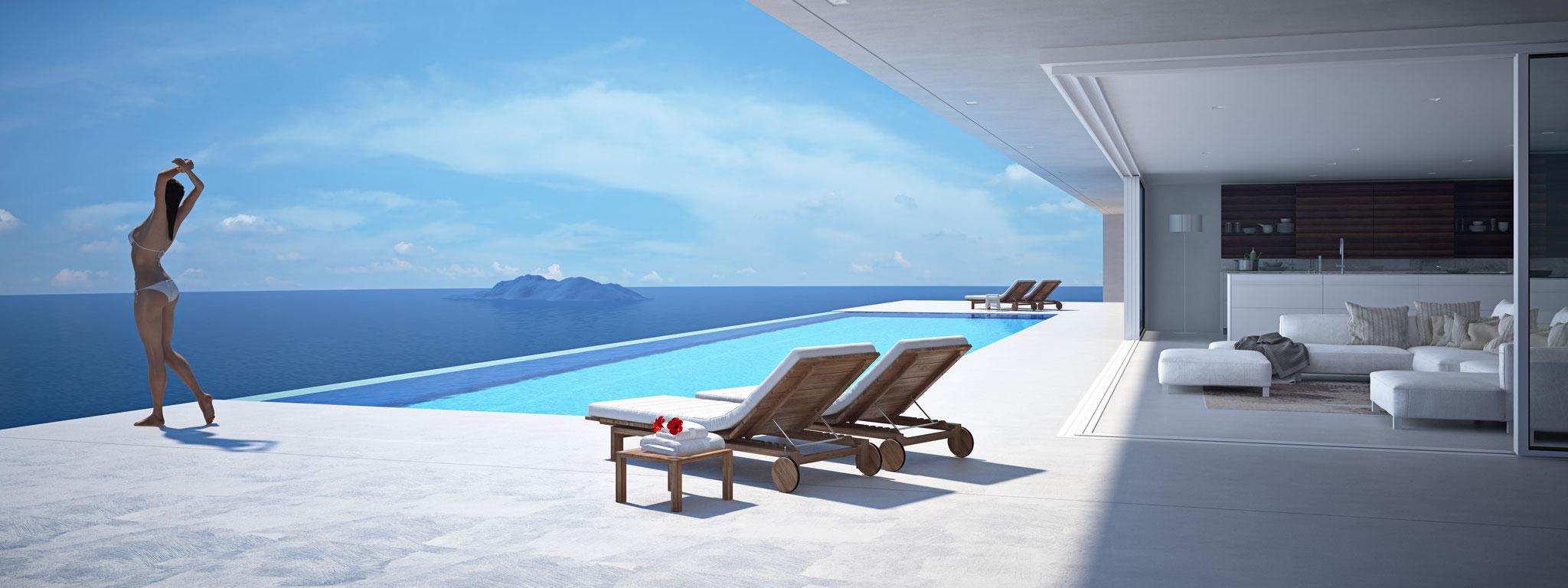 Terrassen und Pools von Bauko und Partner, Santa Ponsa, Mallorca