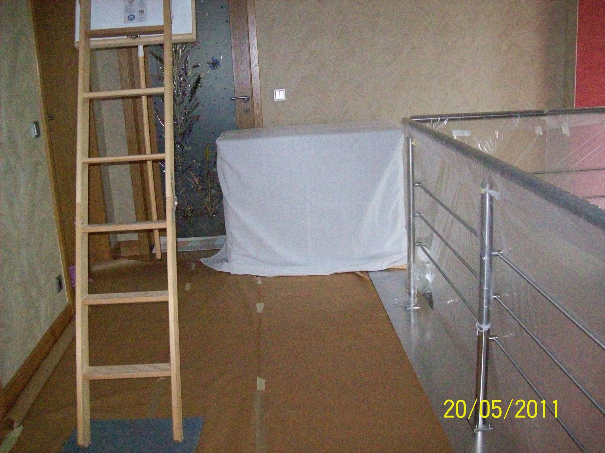 Protection de sol et meubles avant des gros travaux et nettoyage après les travaux