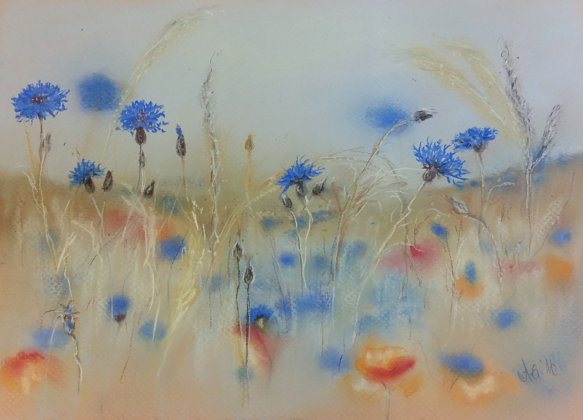 Sommertraum, 2017, Pastell 20*30 cm