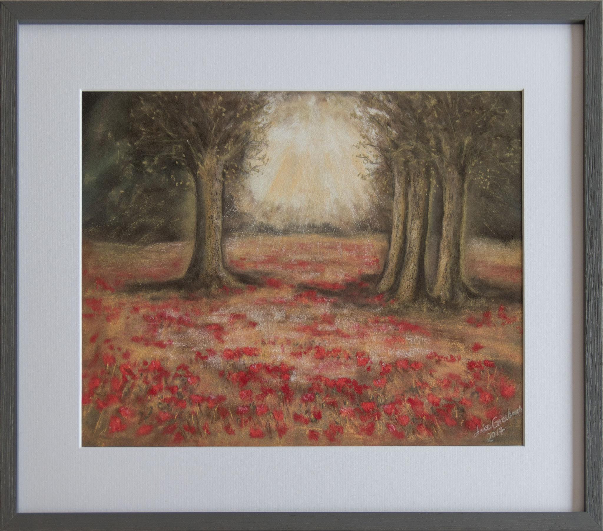 Lichtung 2, 2017, Pastell, 30*40 cm