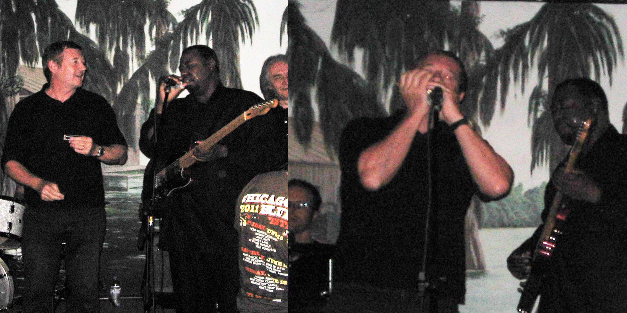 Marc et Eddie Taylor Jr. au Jack Blues Café à Saint-Laurent du Var (06) en 2012.