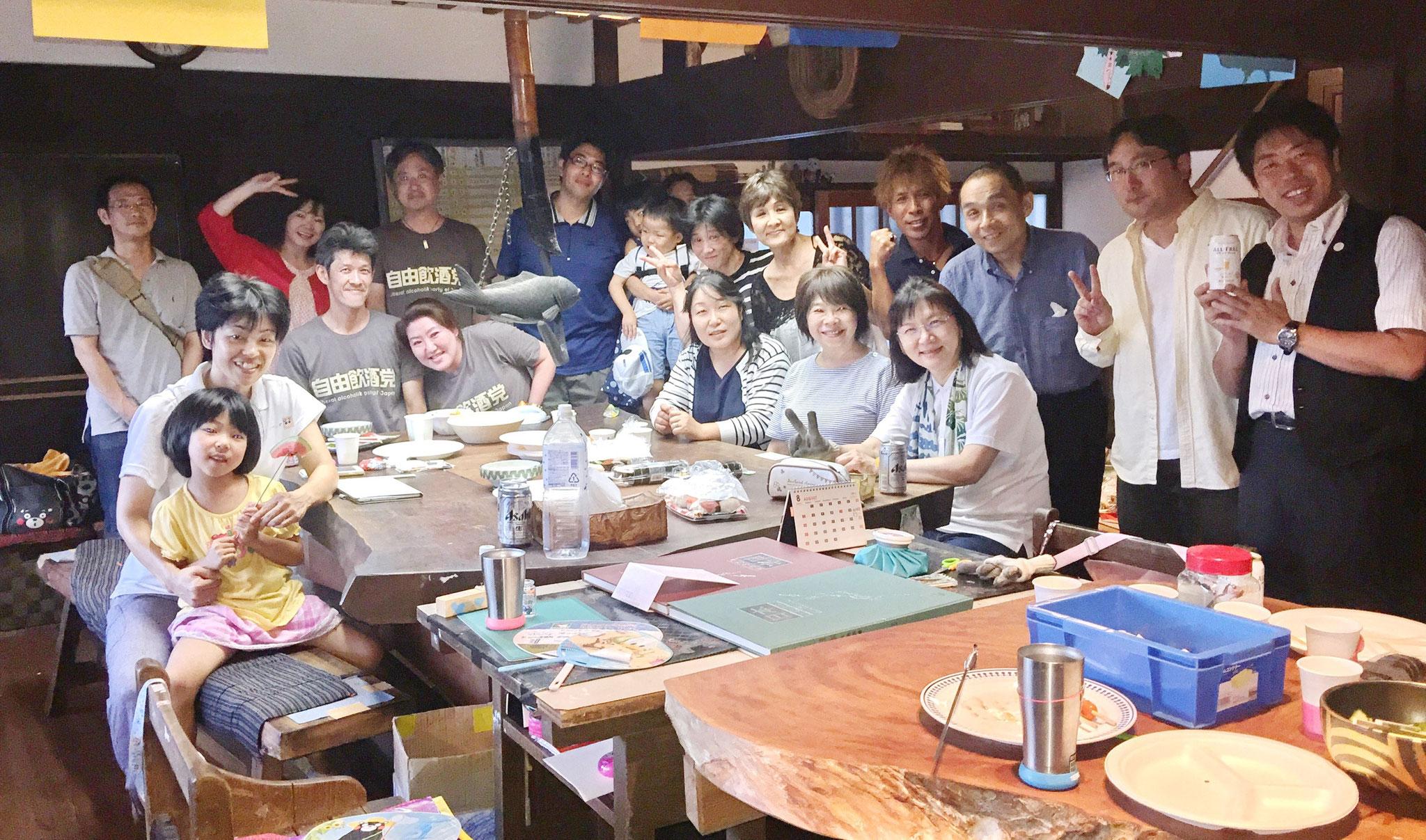 8月7日BBQ第2グループ記念写真
