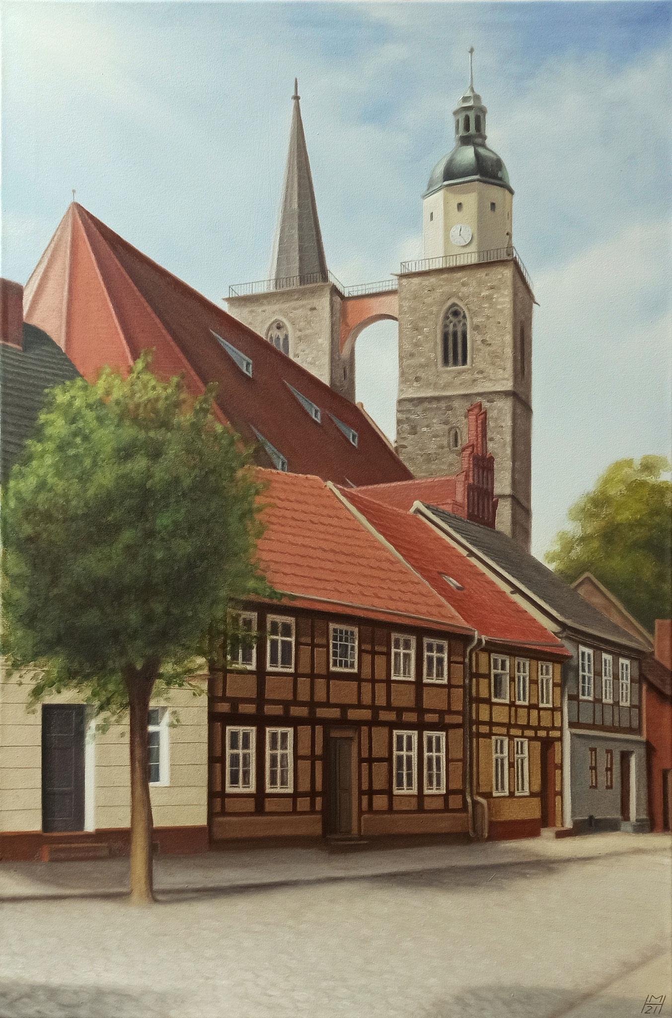 Nikolaikirche zu Jüterbog, Öl auf Leinwand, 76 x 114 cm