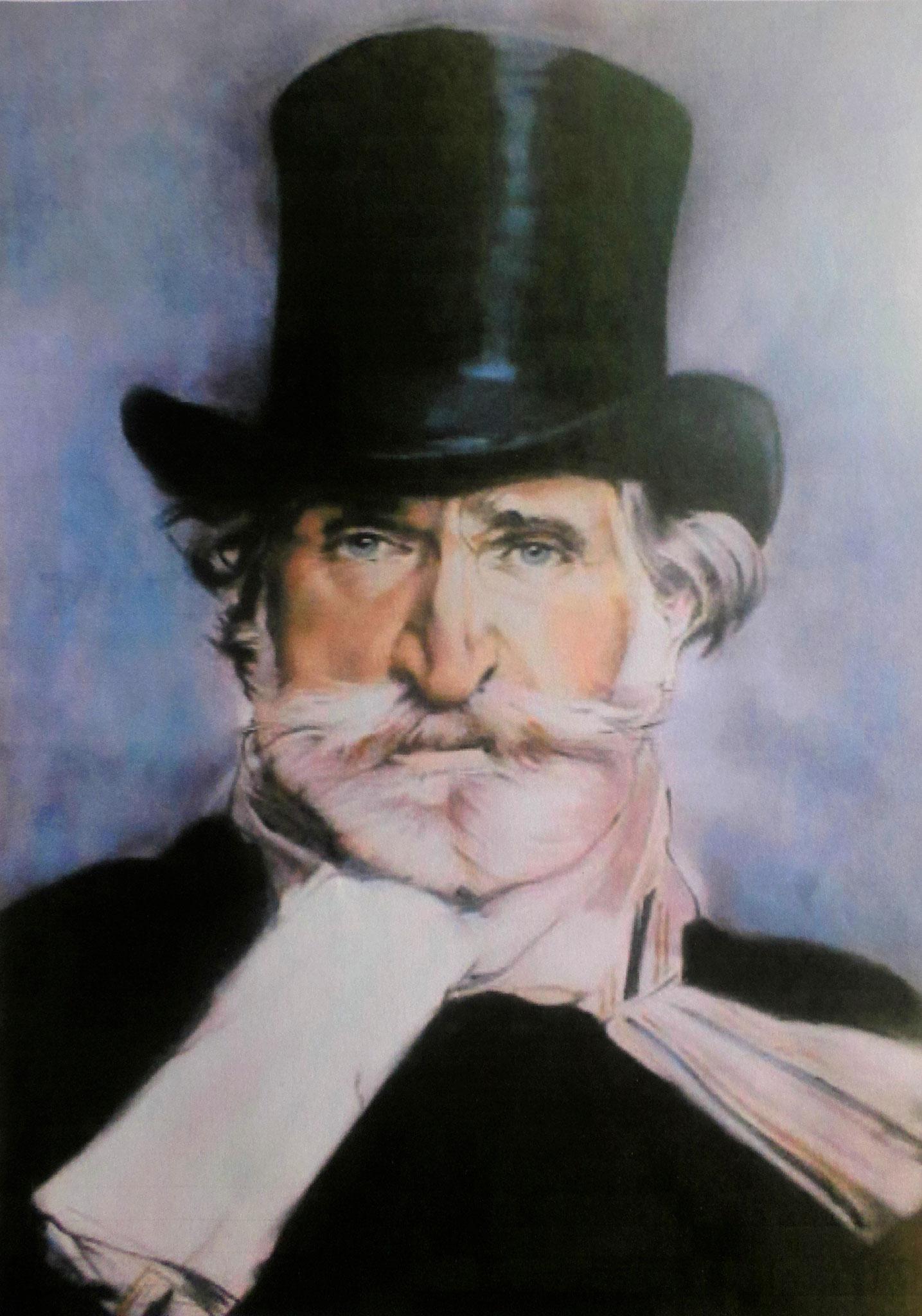 'Giuseppe Verdi' nach Boldini, Akryl auf Leinwand