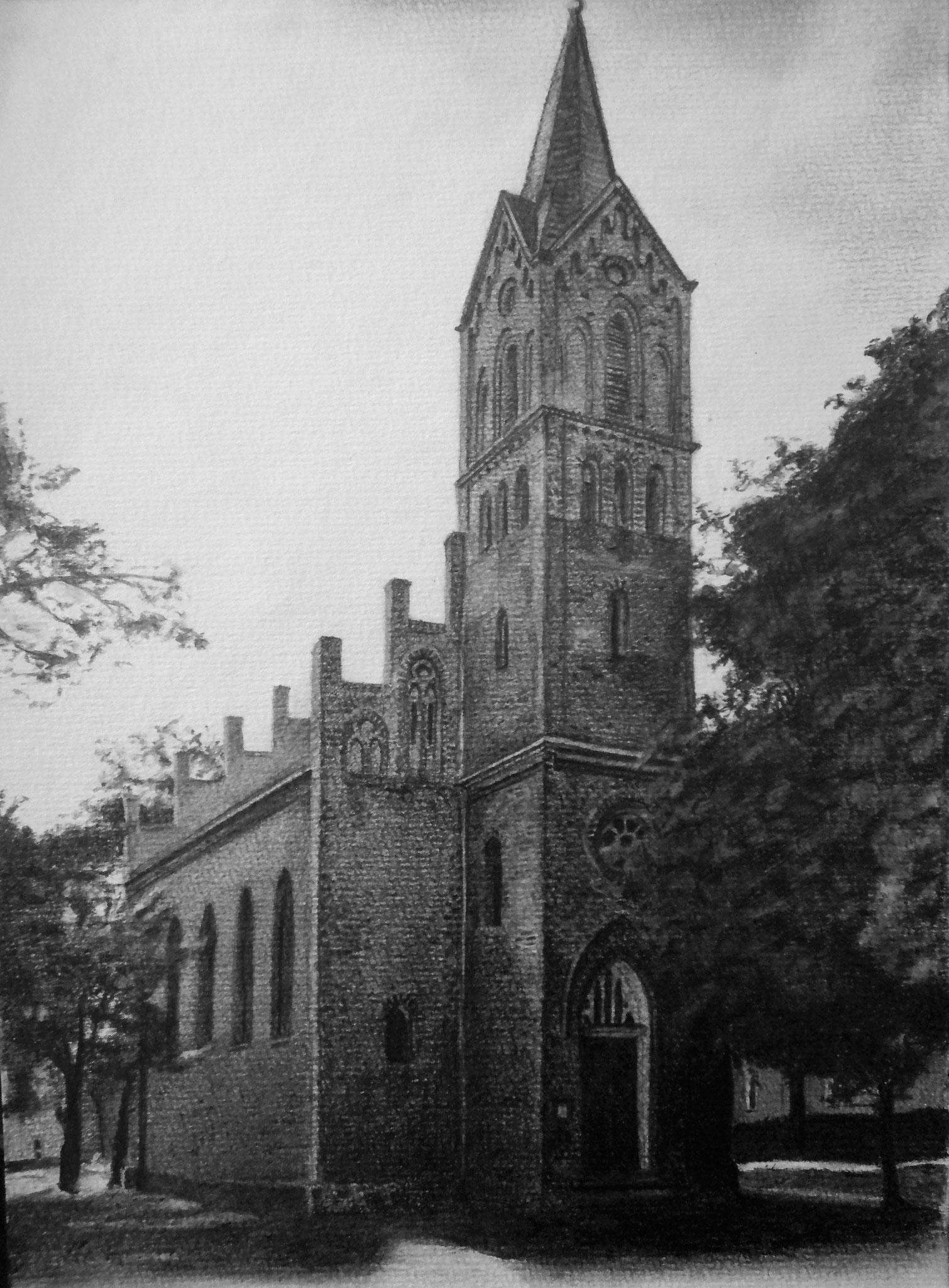 Dorfkirche zu Grüna, Graphit, A4