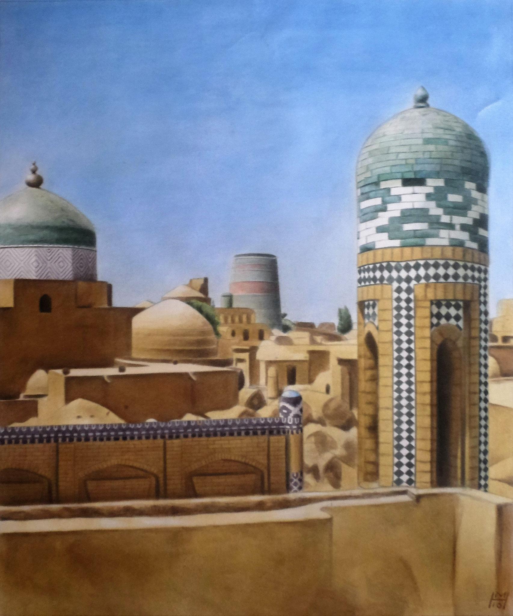 Nordafrikanische Stadt, Akryl auf Leinwand, 104 x 125 cm