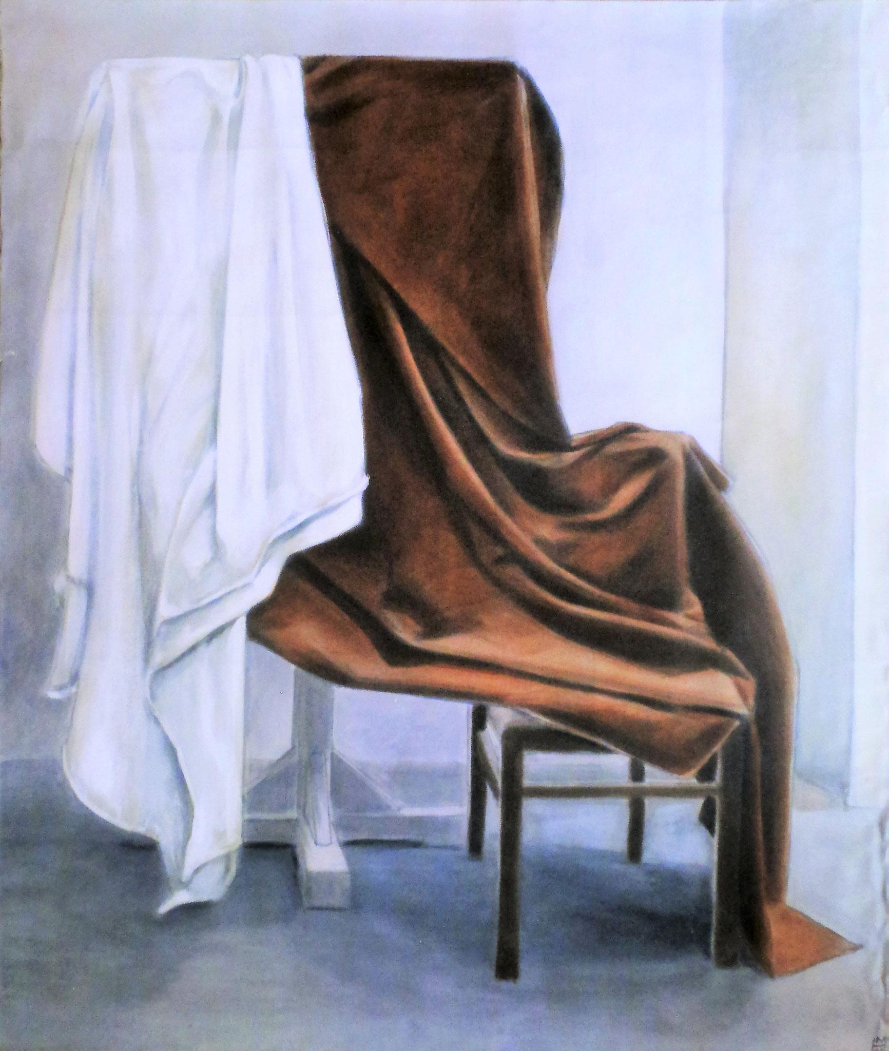 Faltenwurf, Akryl auf Leinwand, 120 x 140 cm