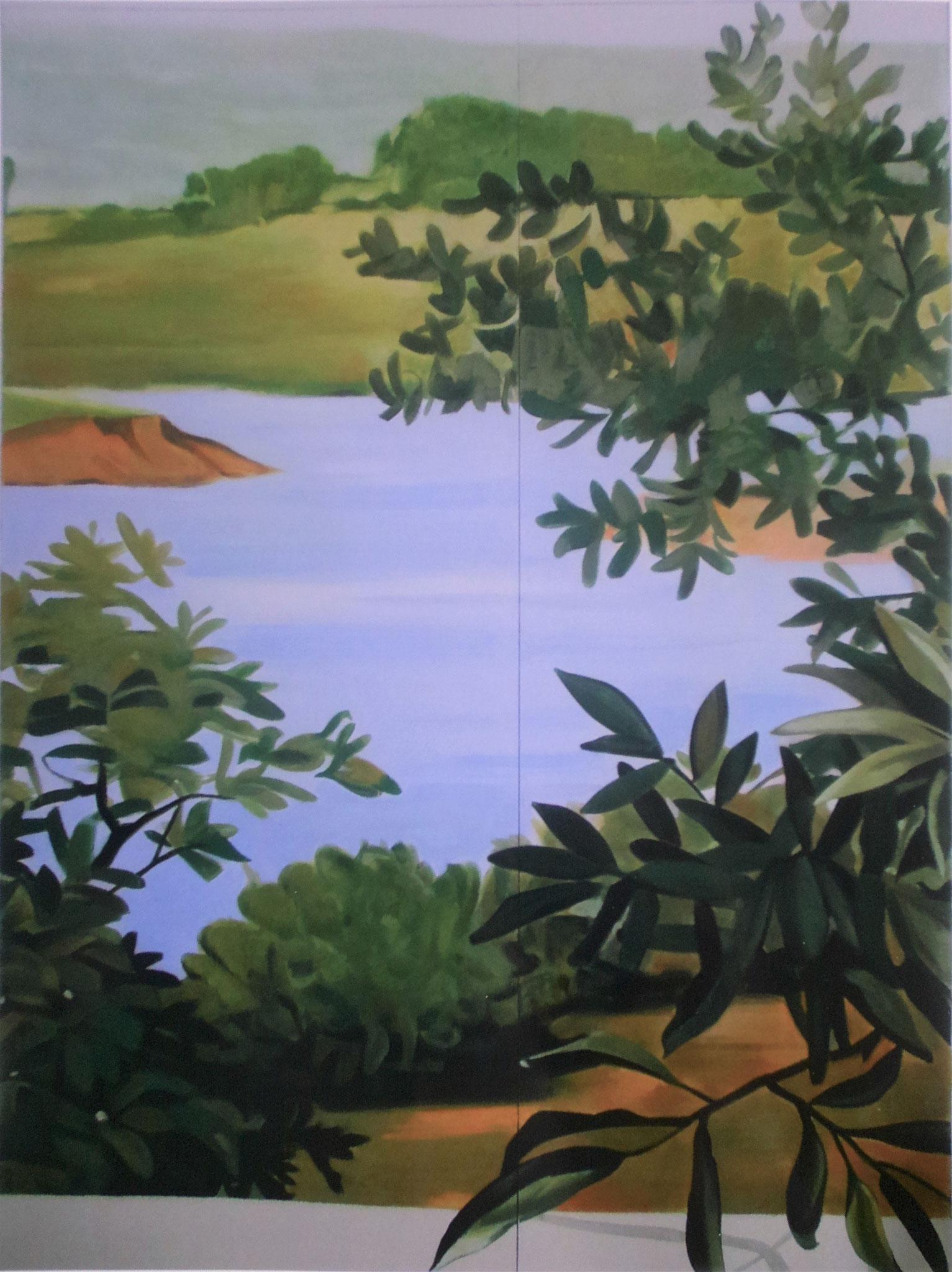 Dekoration für Cafe', Akryl auf Holz, 205 x 280 cm