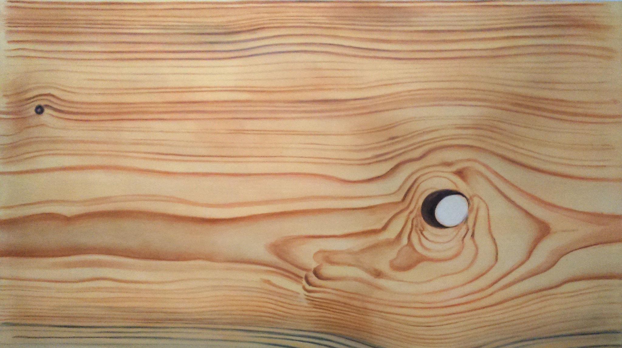 Holzimitation, Akryl auf Leinwand, 85 x 126 cm