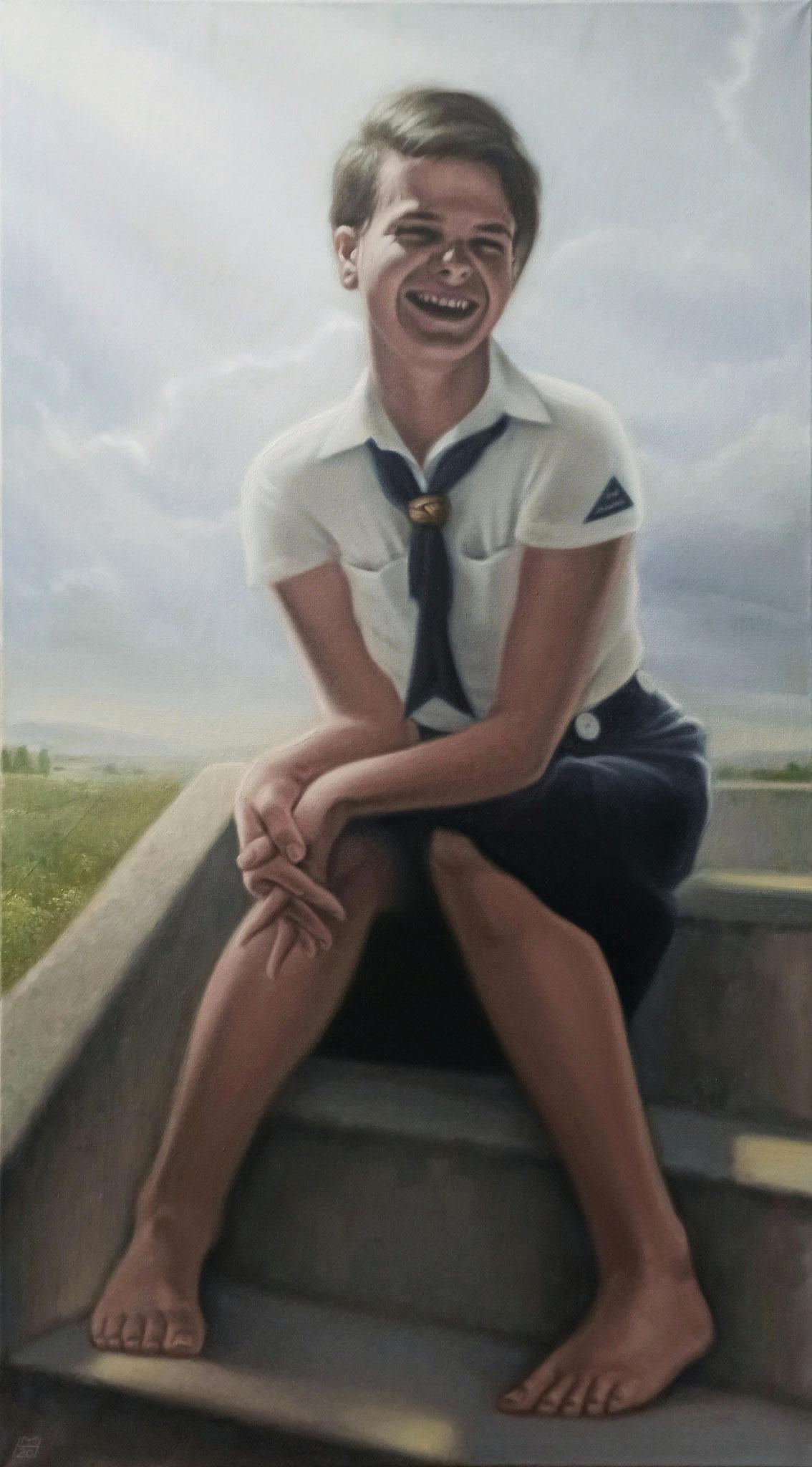 Sophie Scholl, Öl auf Leinwand, 70 x 125 cm