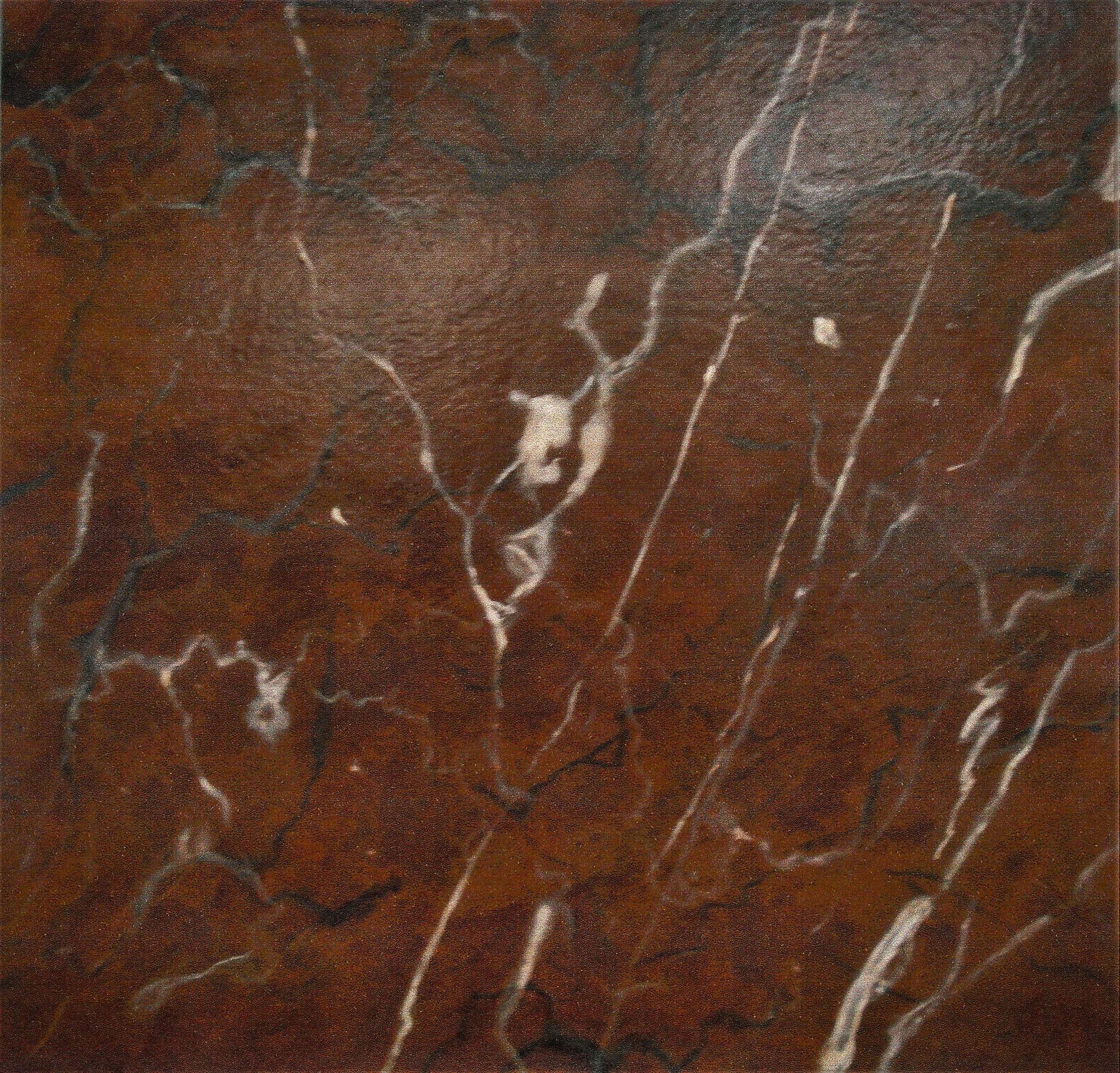 Marmorimitation, Akryl auf Holz, 50 x 50 cm