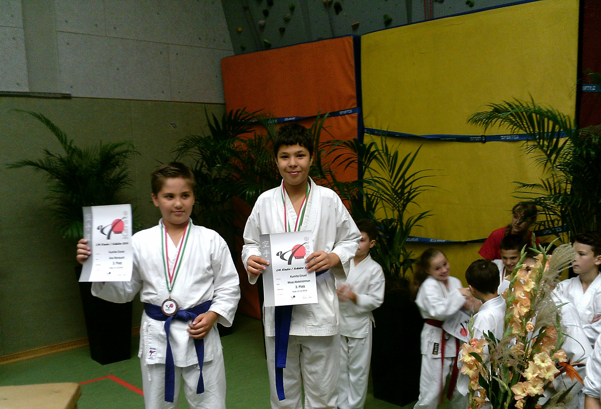 3. Platz – Moaz Abdelrahman – Kumite Kinder U12 +38kg
