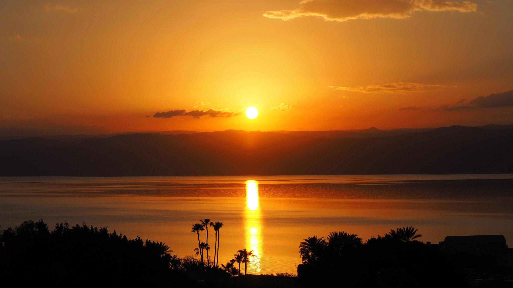 Coucher de soleil - Mer morte - Jordanie