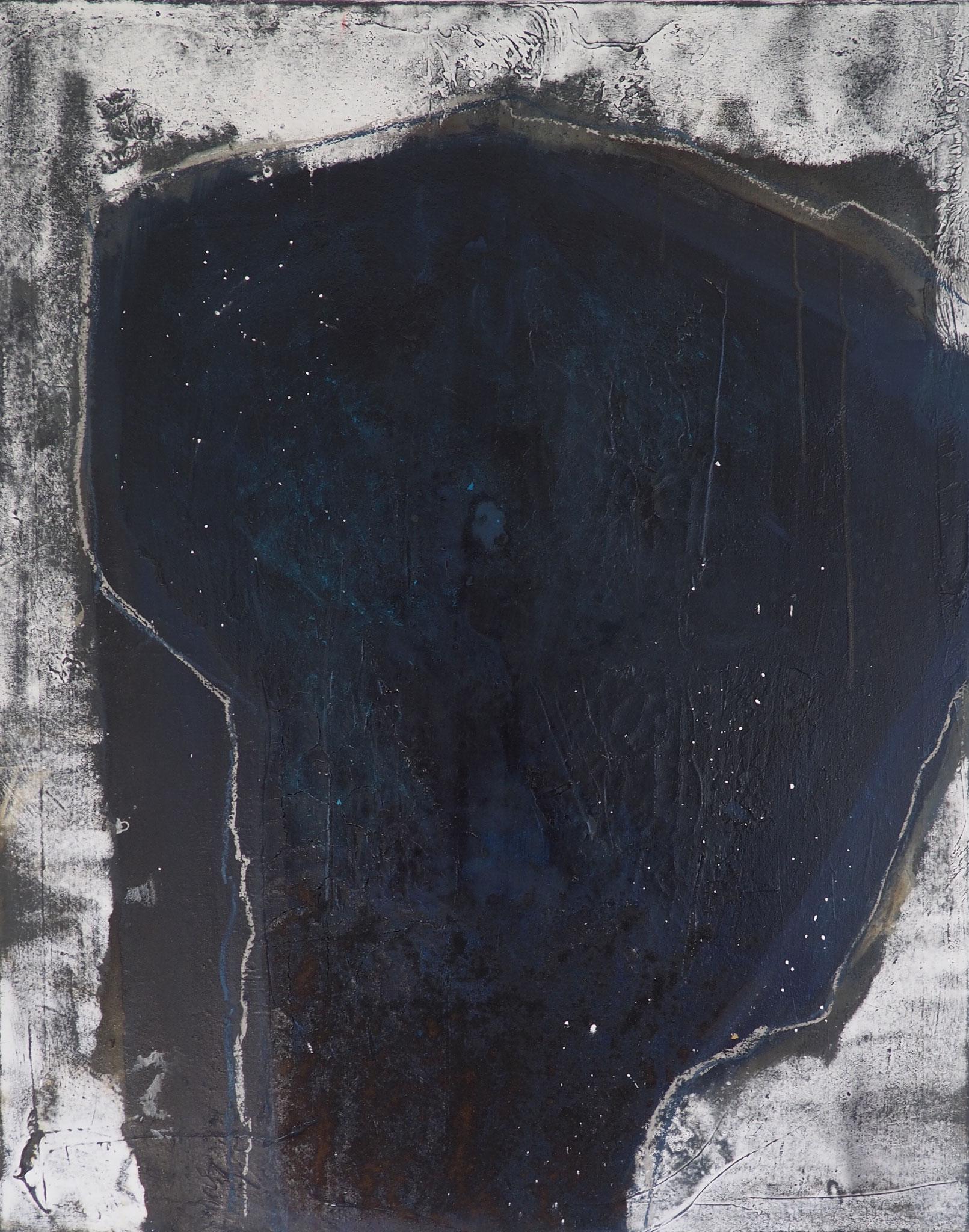 Blauer Kaffee - 80 x 100 cm, Acryl-Mischtechnik