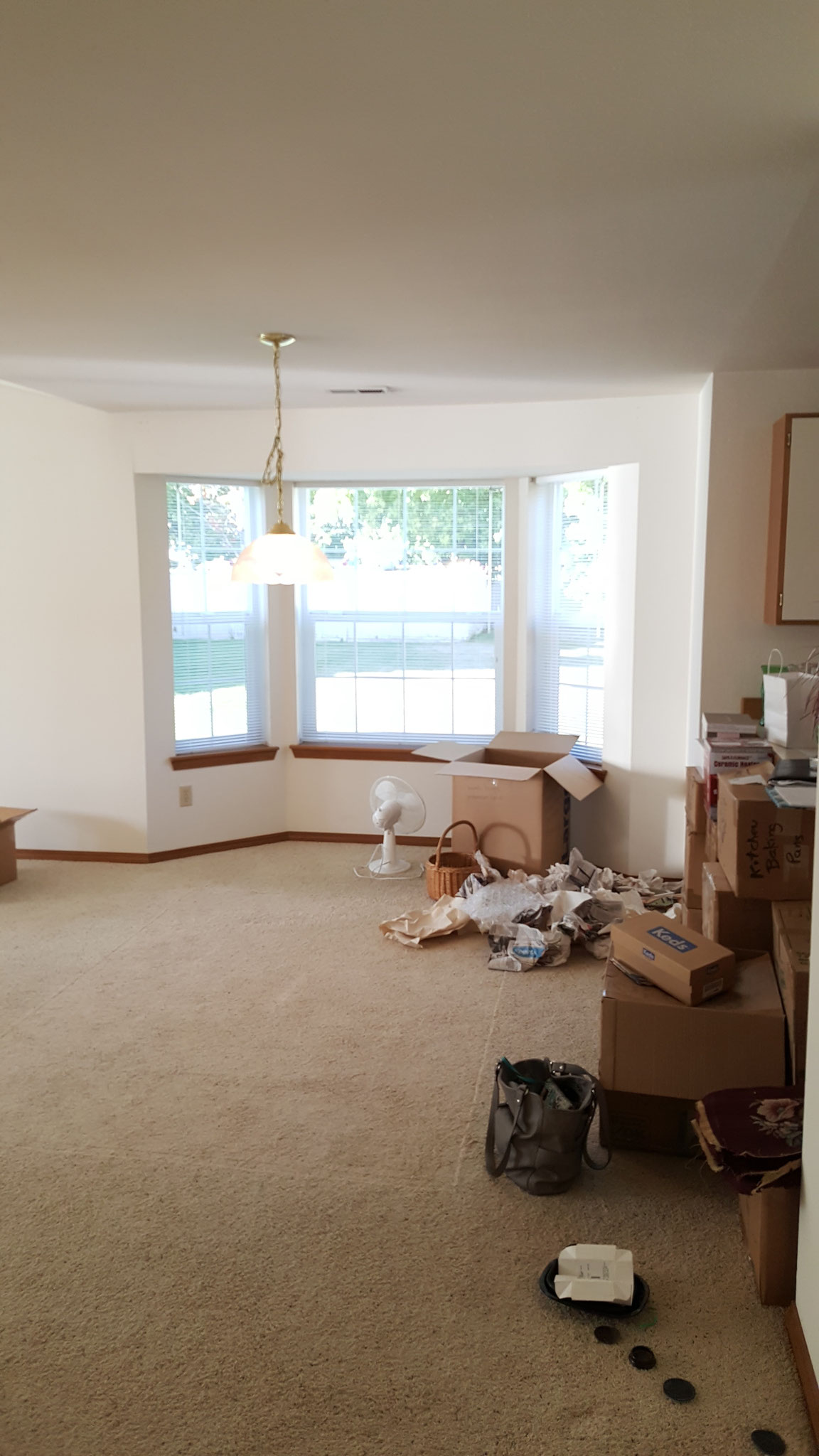 Dining Area Before Staging