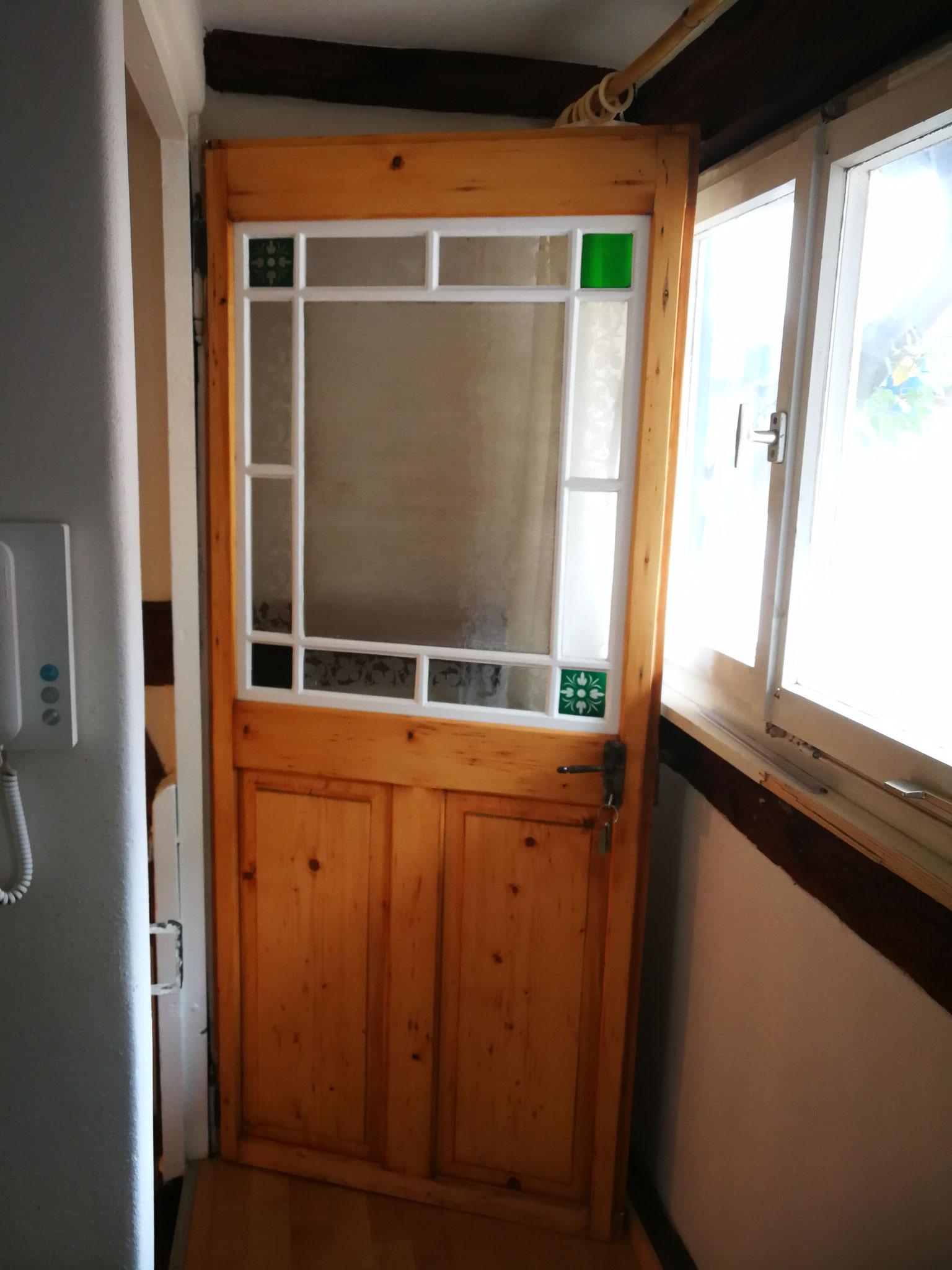Restaurierte Türe