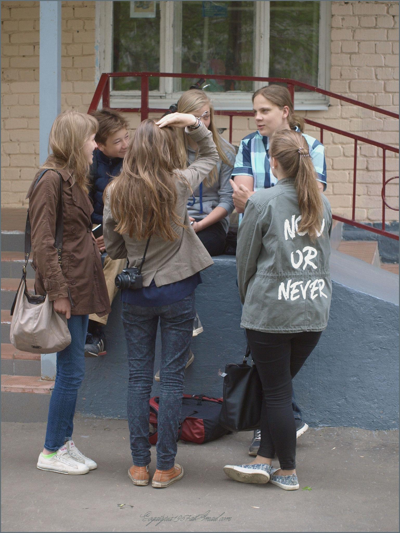 Общение гостей из Германии с Российскими сверстниками (МОУ СОШ №35, г. Тверь)