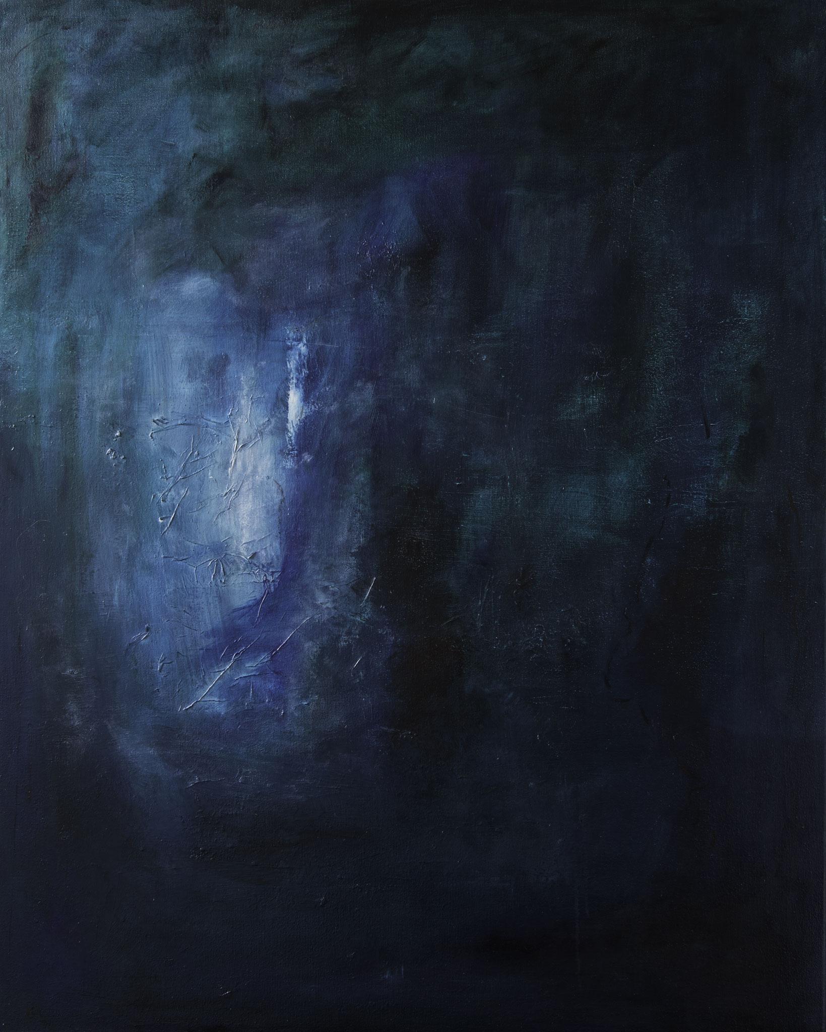Flickering in the gloom - 80 x 100 cm