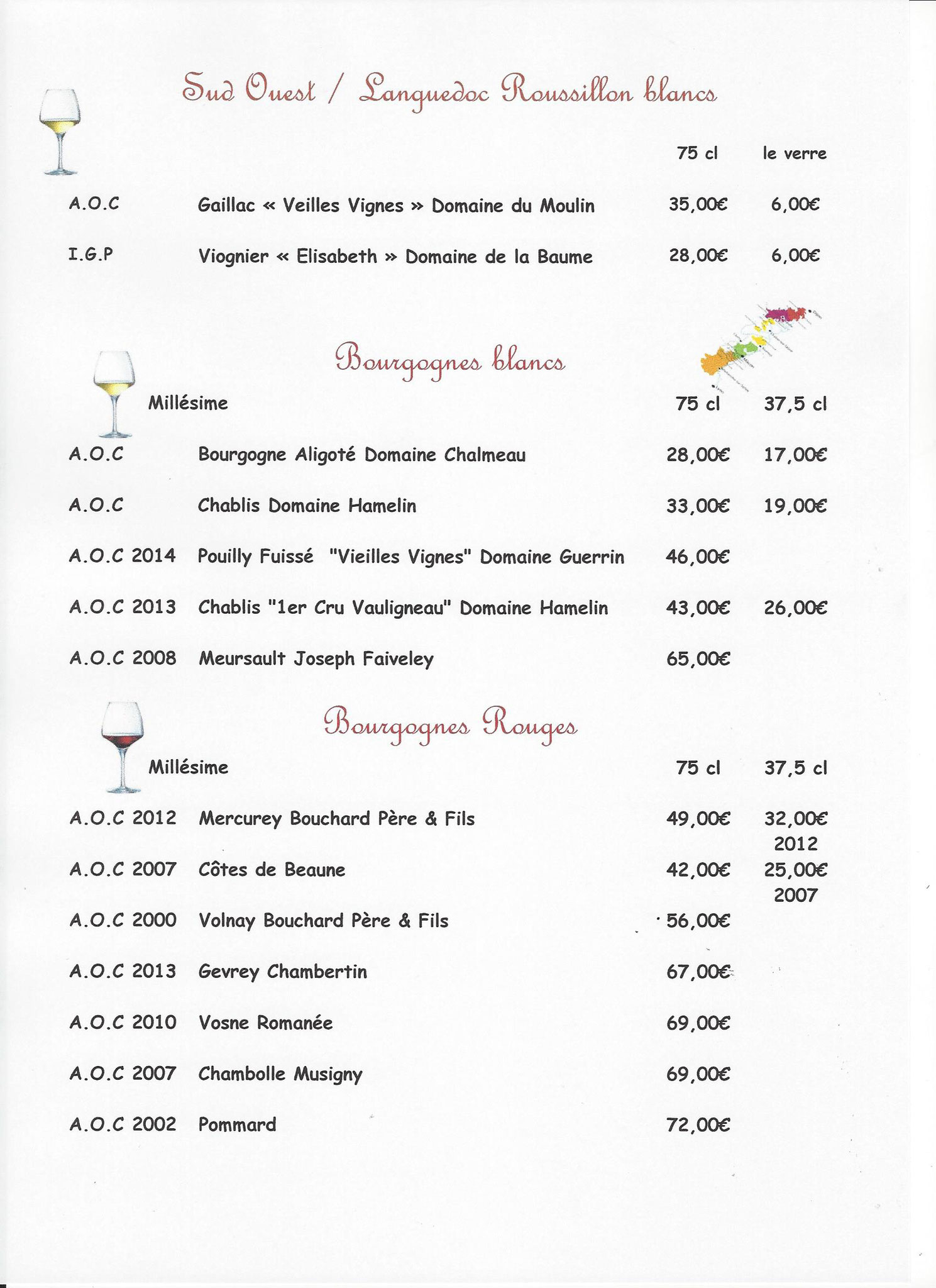 Copyrightlafinefourchette Carte des vins