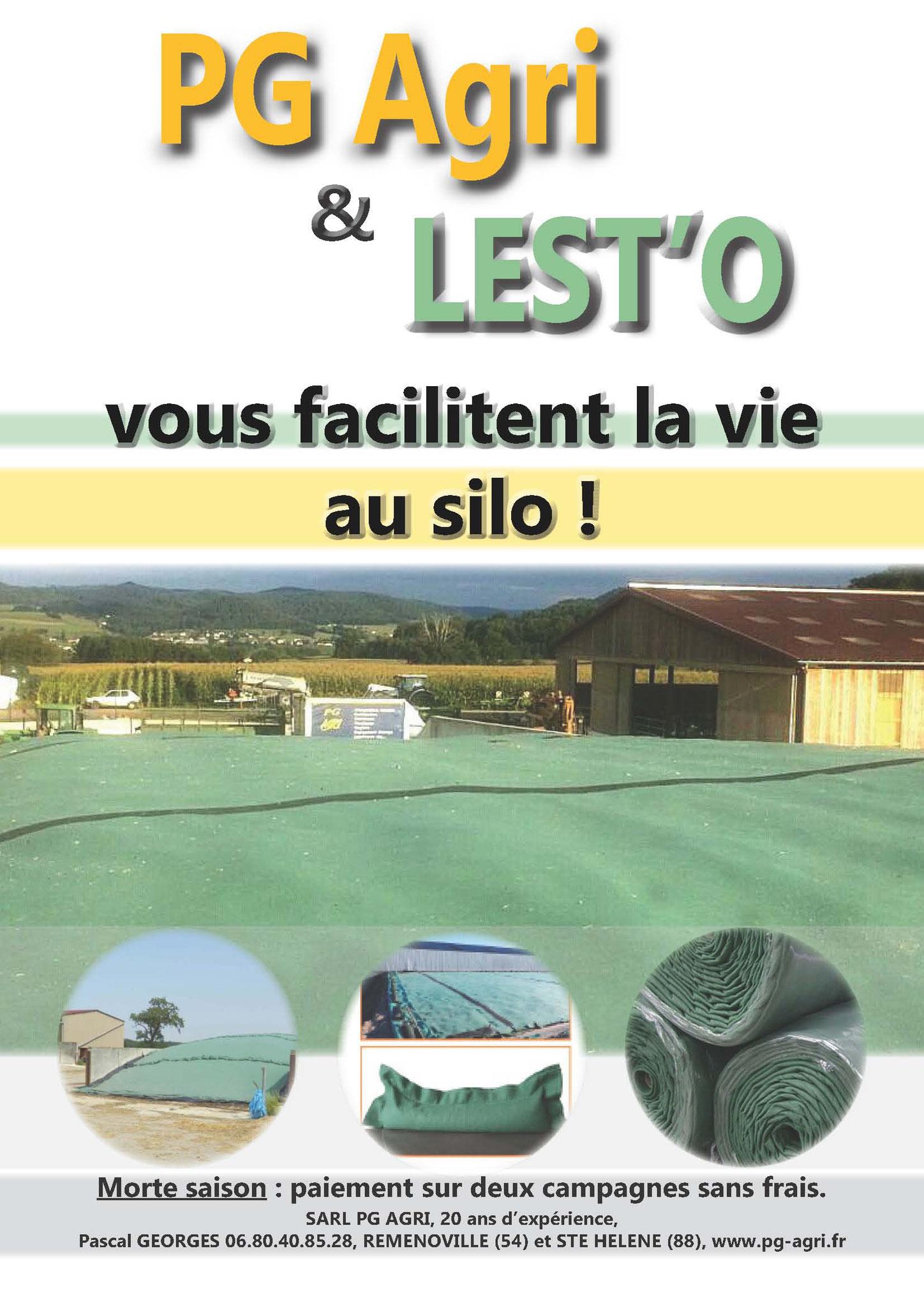 PG Agri & LestO vous facilitent la vie au silo.