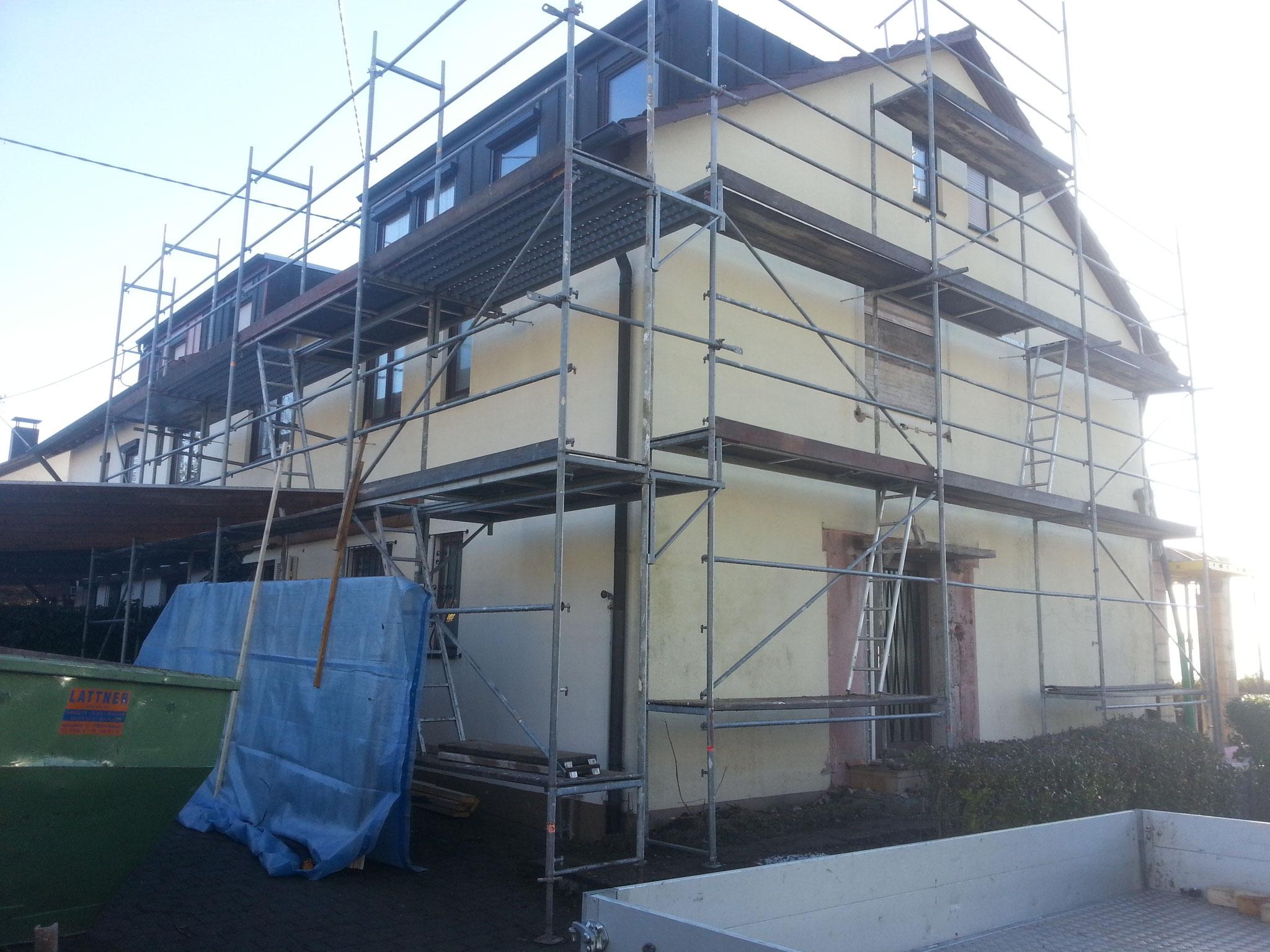Renovierung einer Fassade