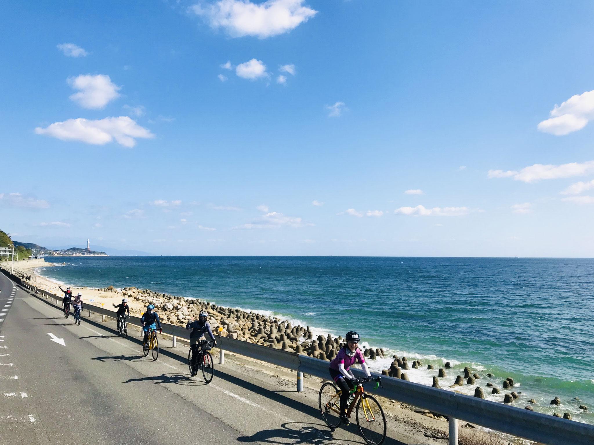 西海岸の淡路サンセットラインをサイクリング!!