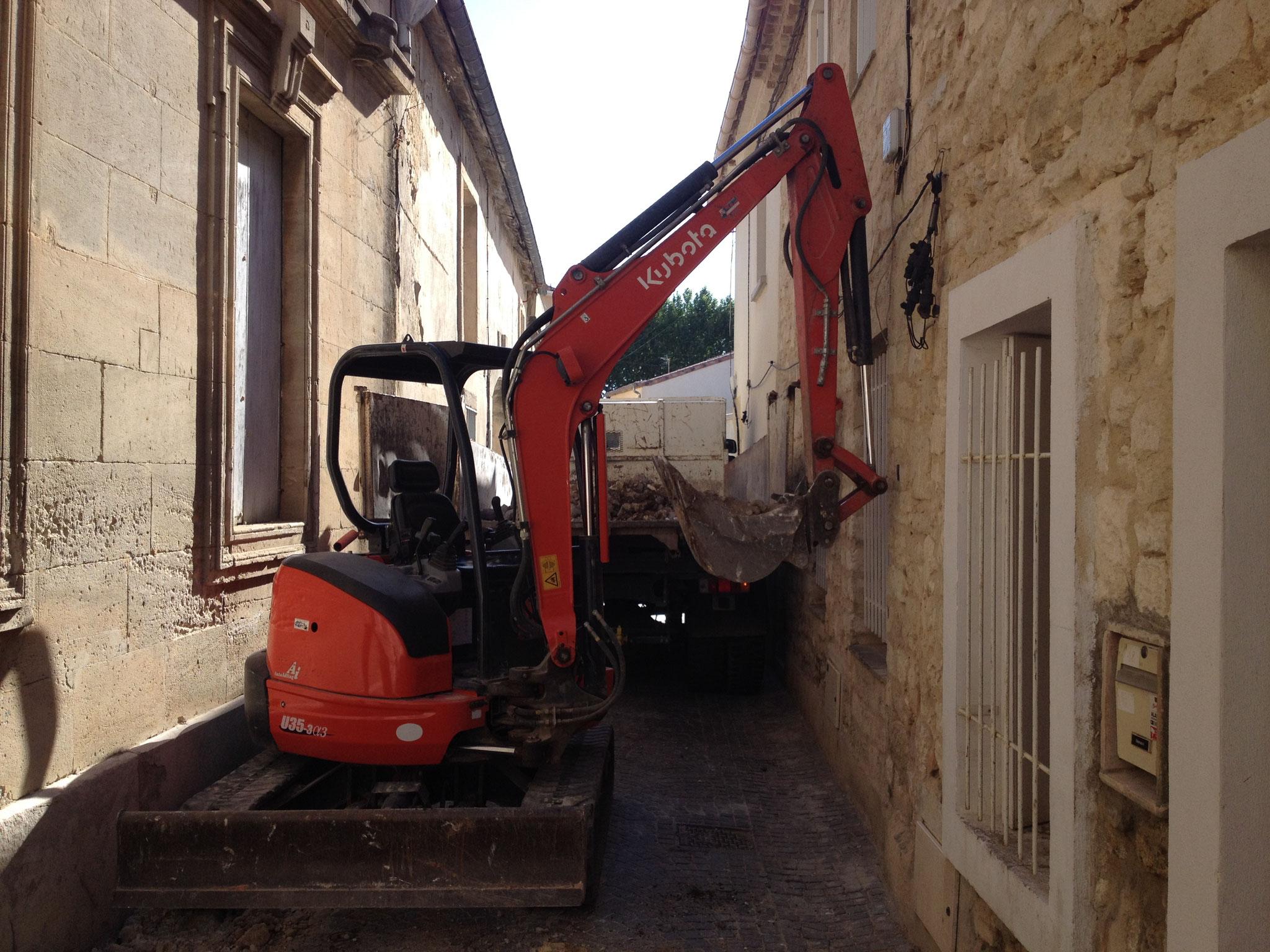 Terrassement accès difficile (Montpellier)