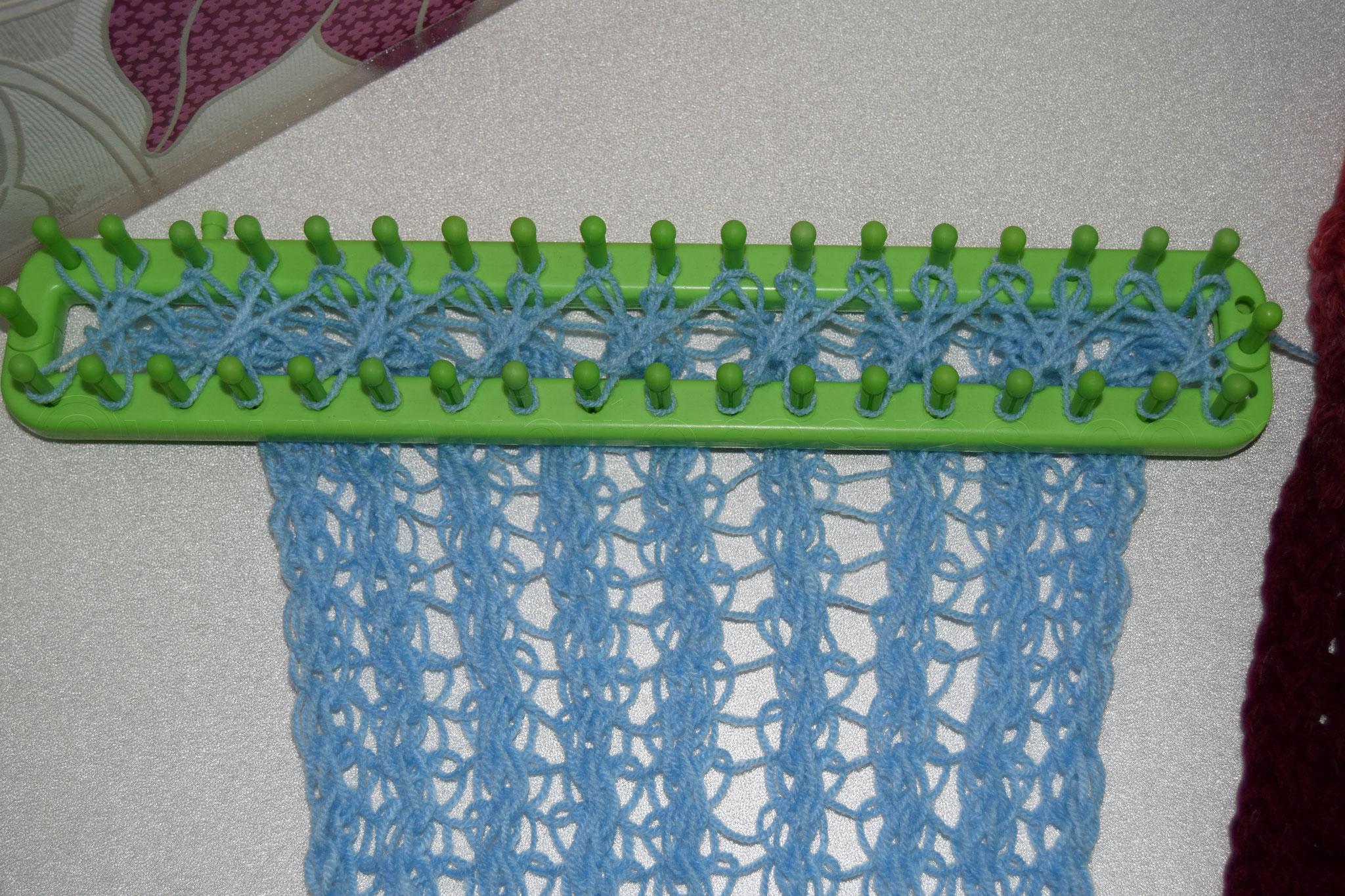 Muster 7: Rückseite, aus Acryl Garn in Nadelstärke 3