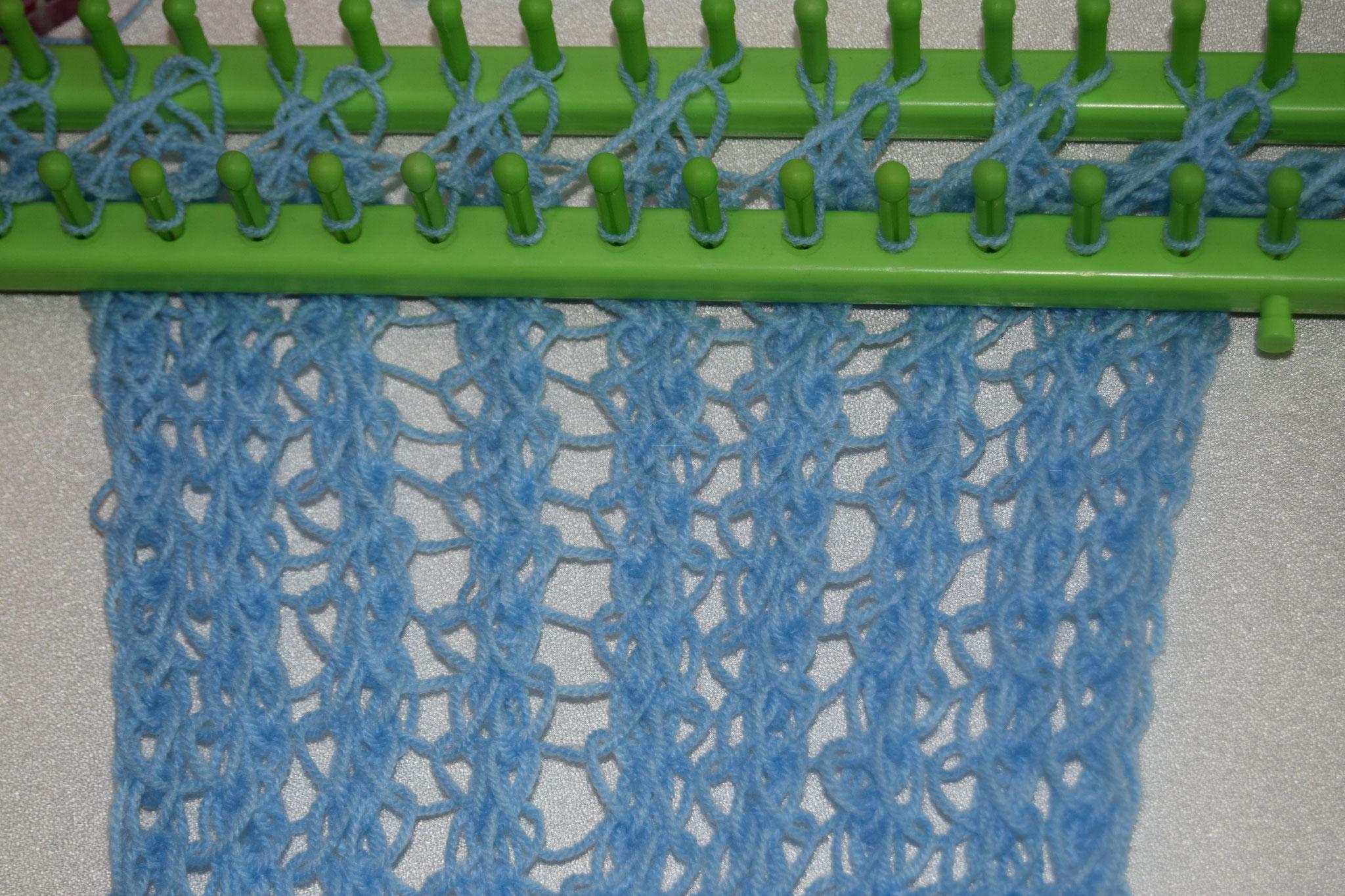 Muster 7: Vorderseite, aus Acryl Garn in Nadelstärke 3