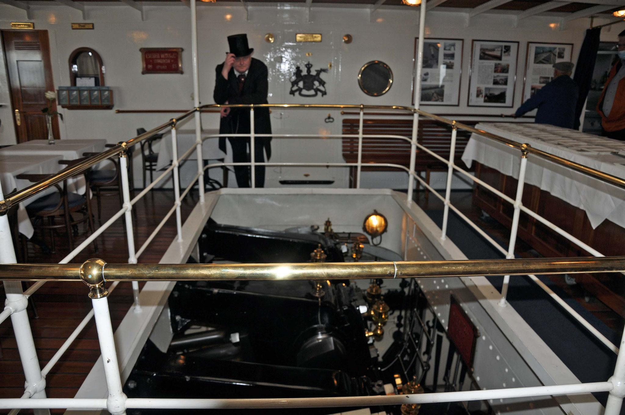 der Maschinenraum, den man von oben einsehen konnte