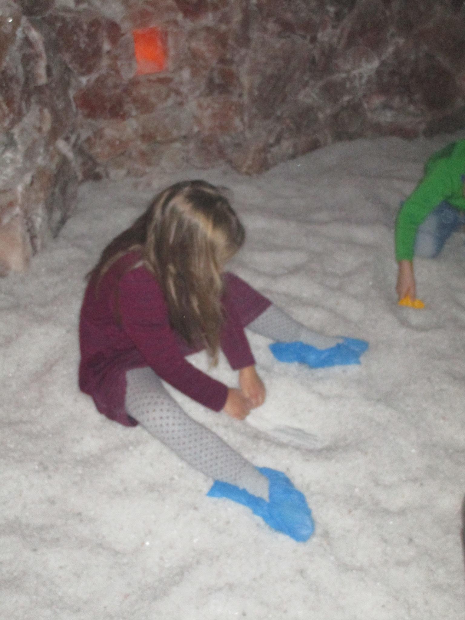 Besuch in der Salzgrotte in Kaufering