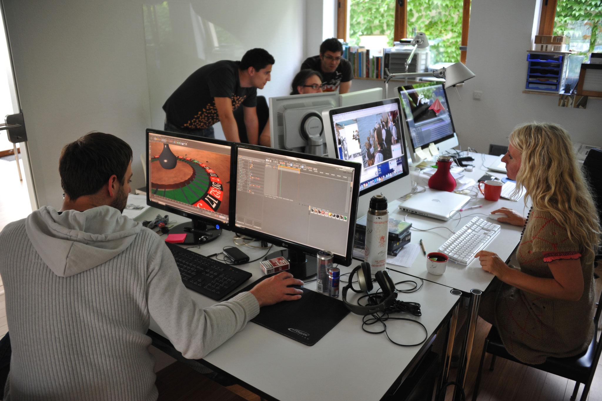 making of: Motiondesigner bei der Arbeit