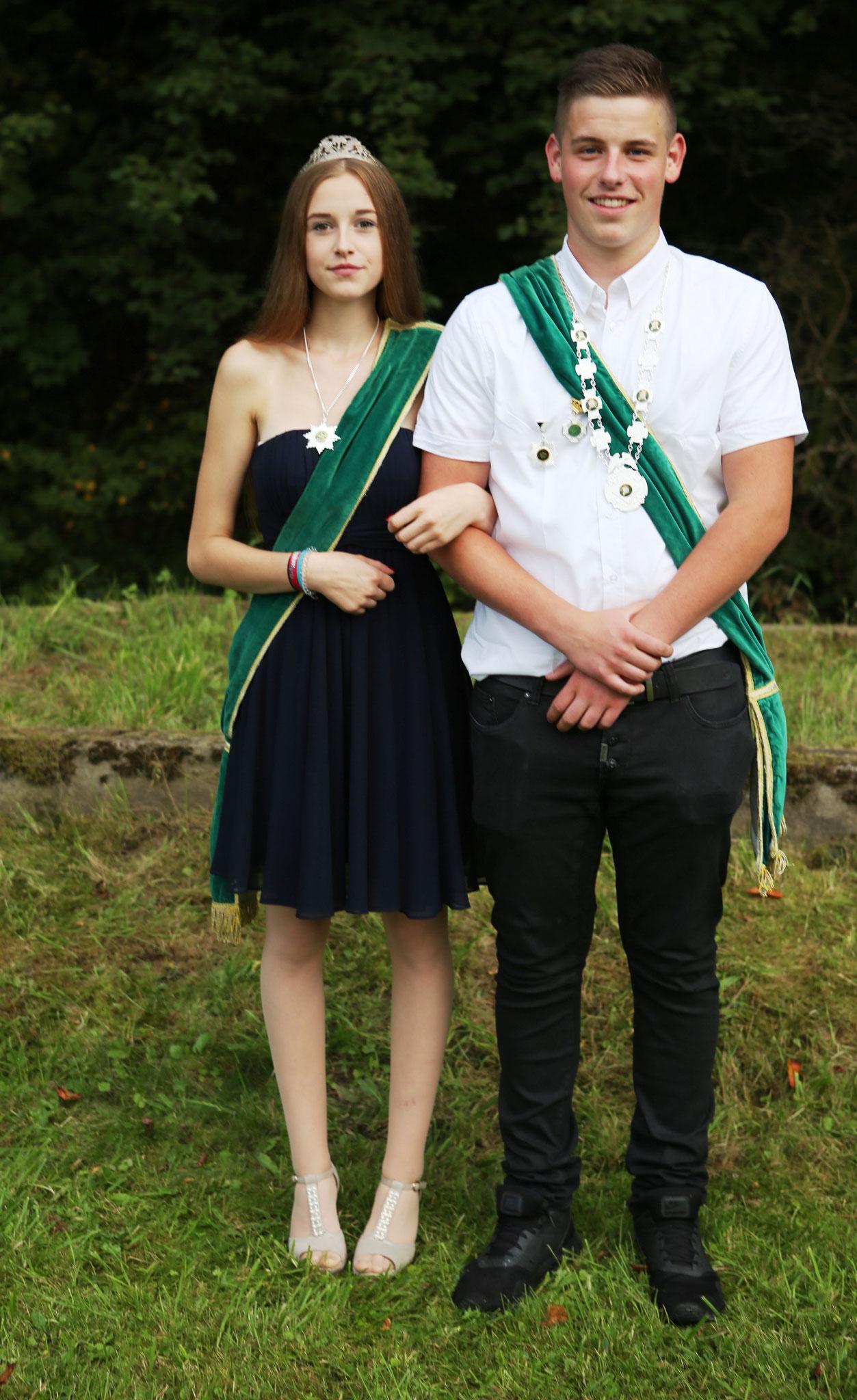 Juungschützenkönigspaar 2017: Marc Jannis Grundmann und Sarah Weber
