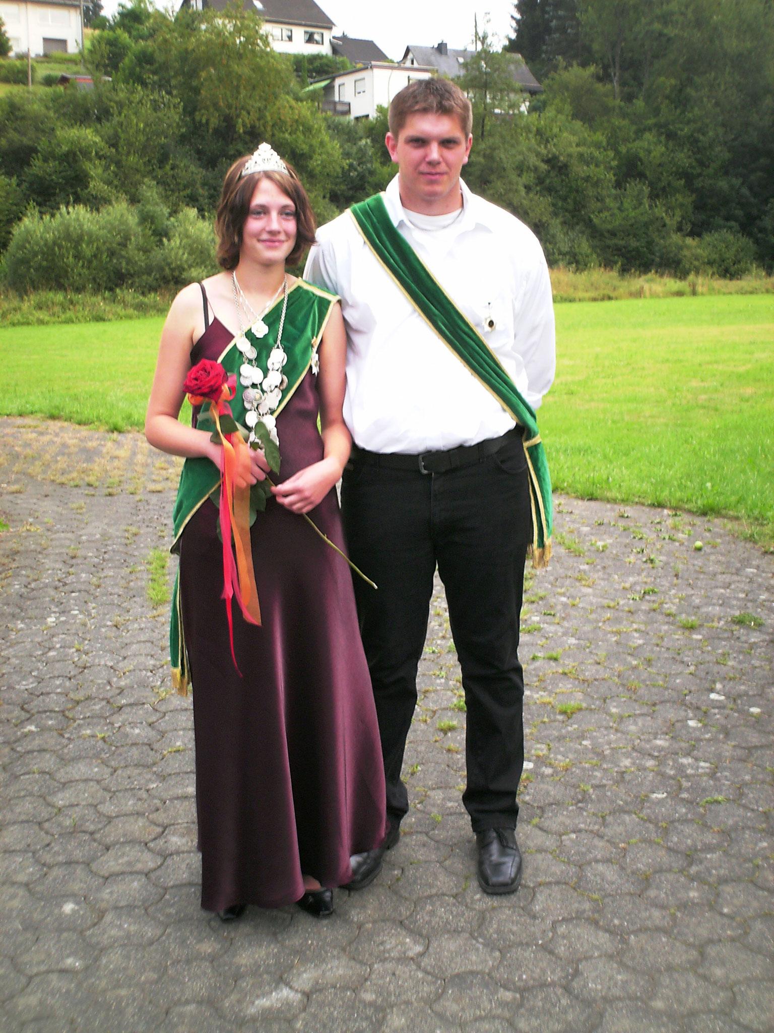 Jungschützenkönigspaar 2006: Angela Kufner und Prinzregent Friedrich August Dörr