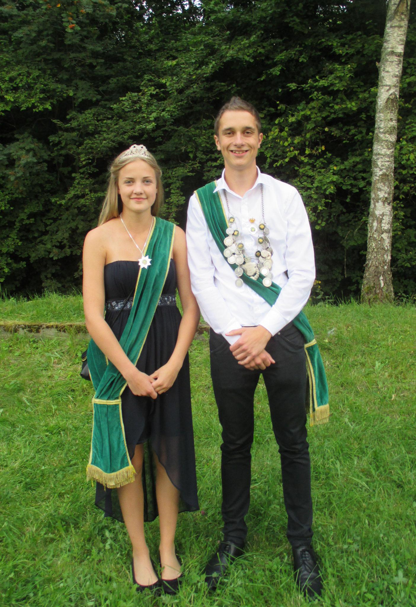 Jungschützenkönigspaar 2016: Aaron Hoffmann und Lena Afflerbach