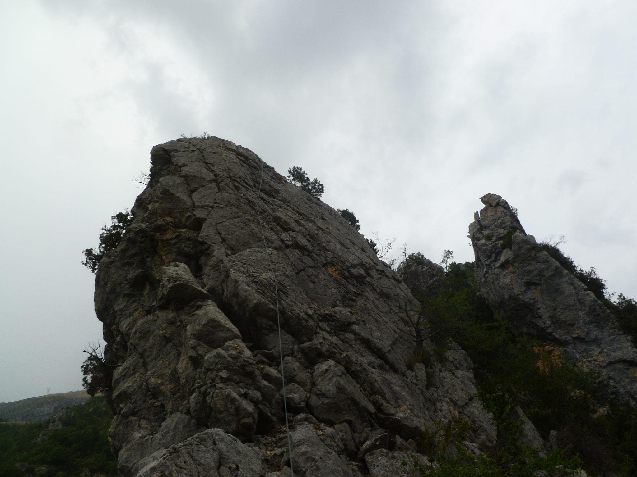 Die letzte Länge, nach dem Abseiler, hier brauchts keine Kletterpatschen mehr