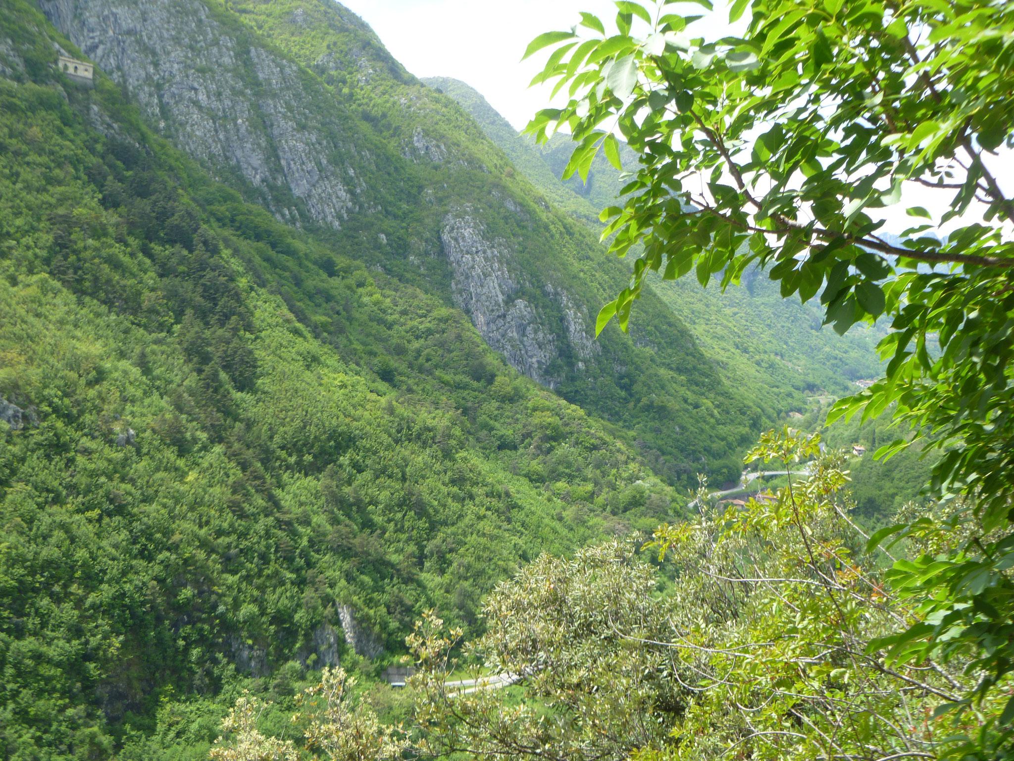 """Blick auf die """"Via Falcone"""" beim Ausstieg"""