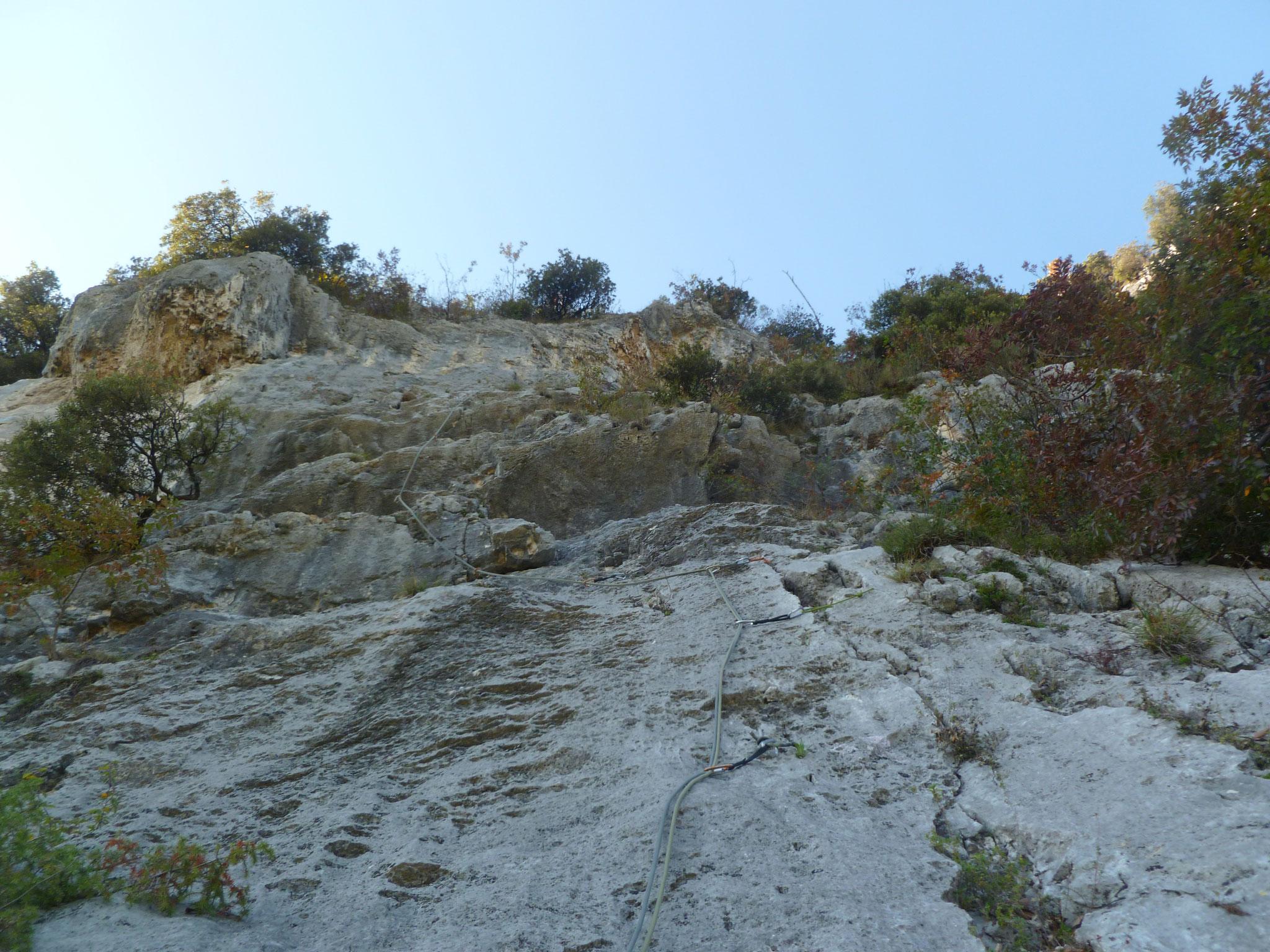 Coole Kletterei in der 6. Länge