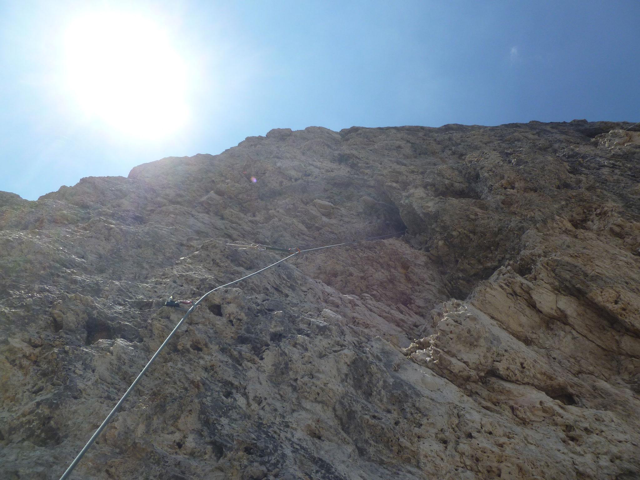 vorletzte Kletterlänge - nochmal schwerer