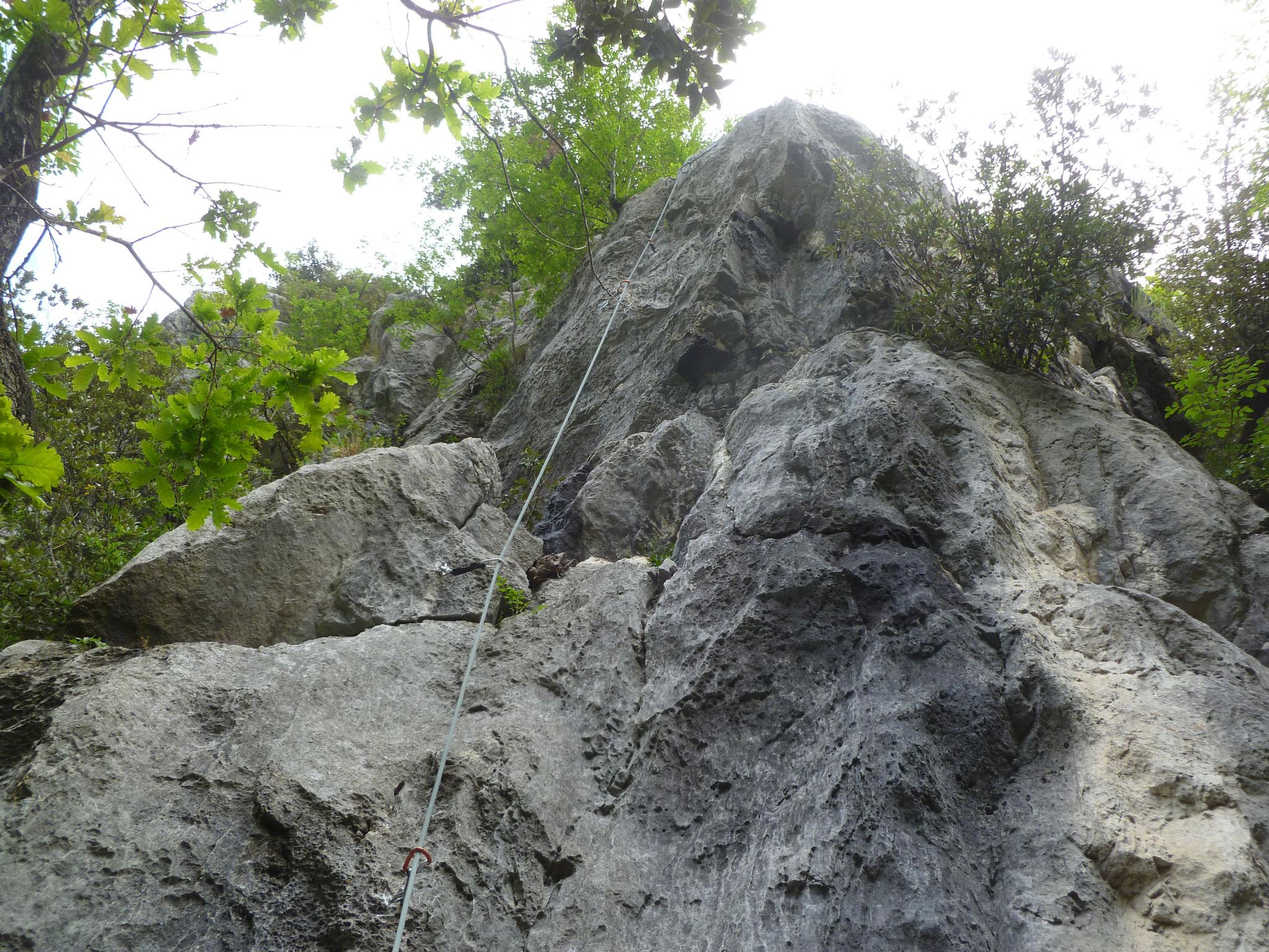 Der steile Einstieg - ziemlich knackig!