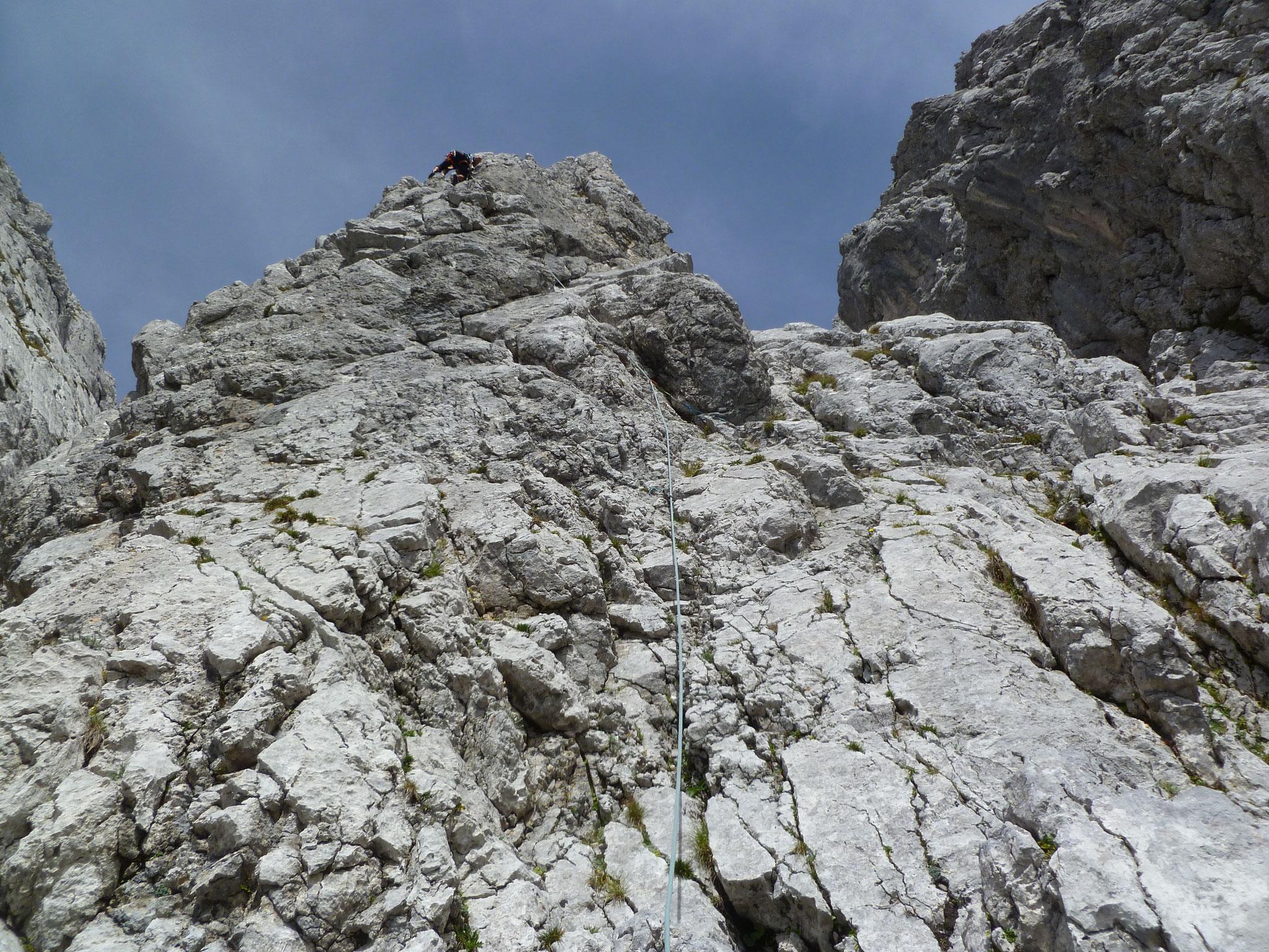 Endlich - die erste Kletterlänge!