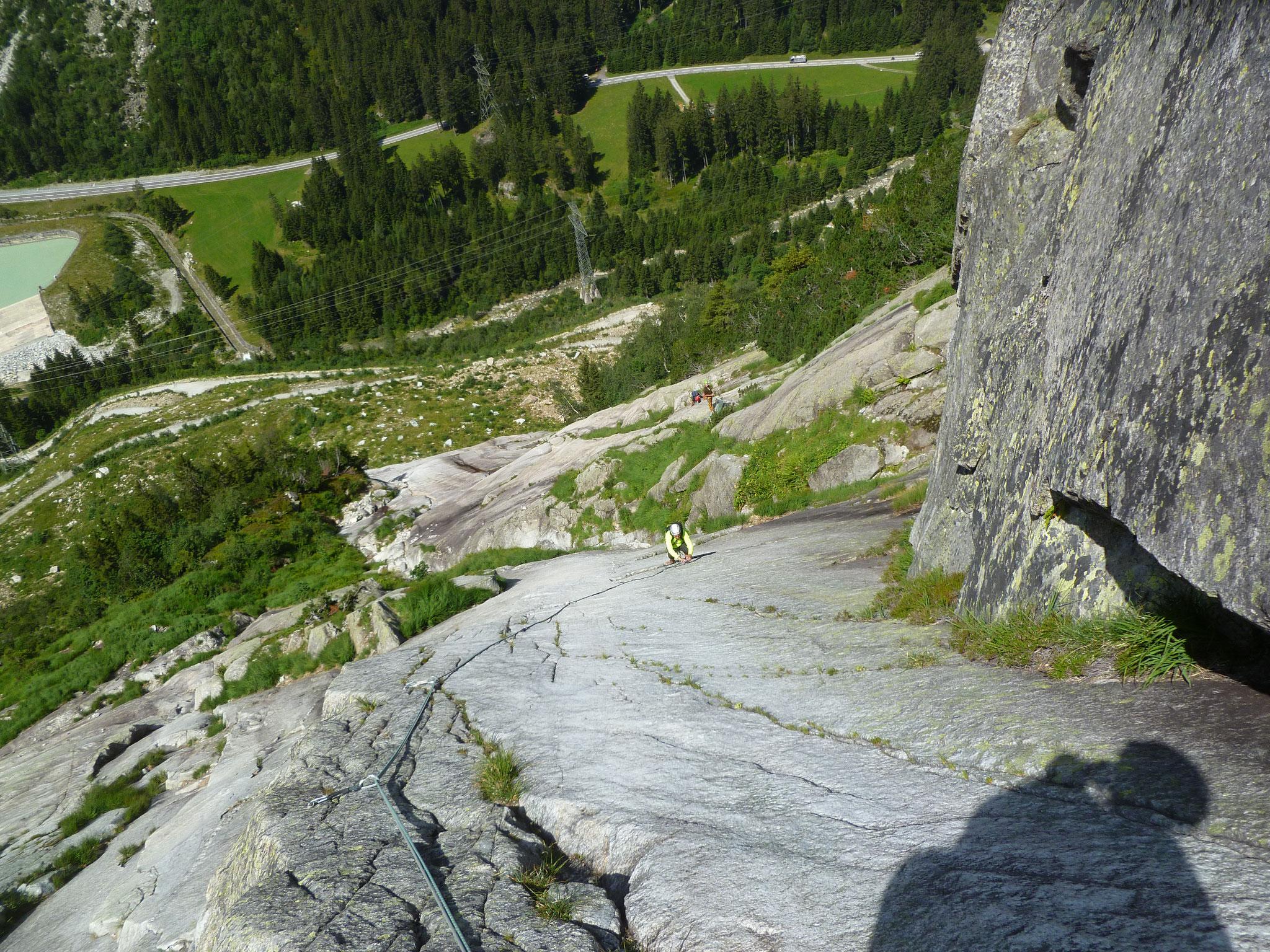 Im oberen Teil gibt´s sogar ein bisschen Felsstruktur